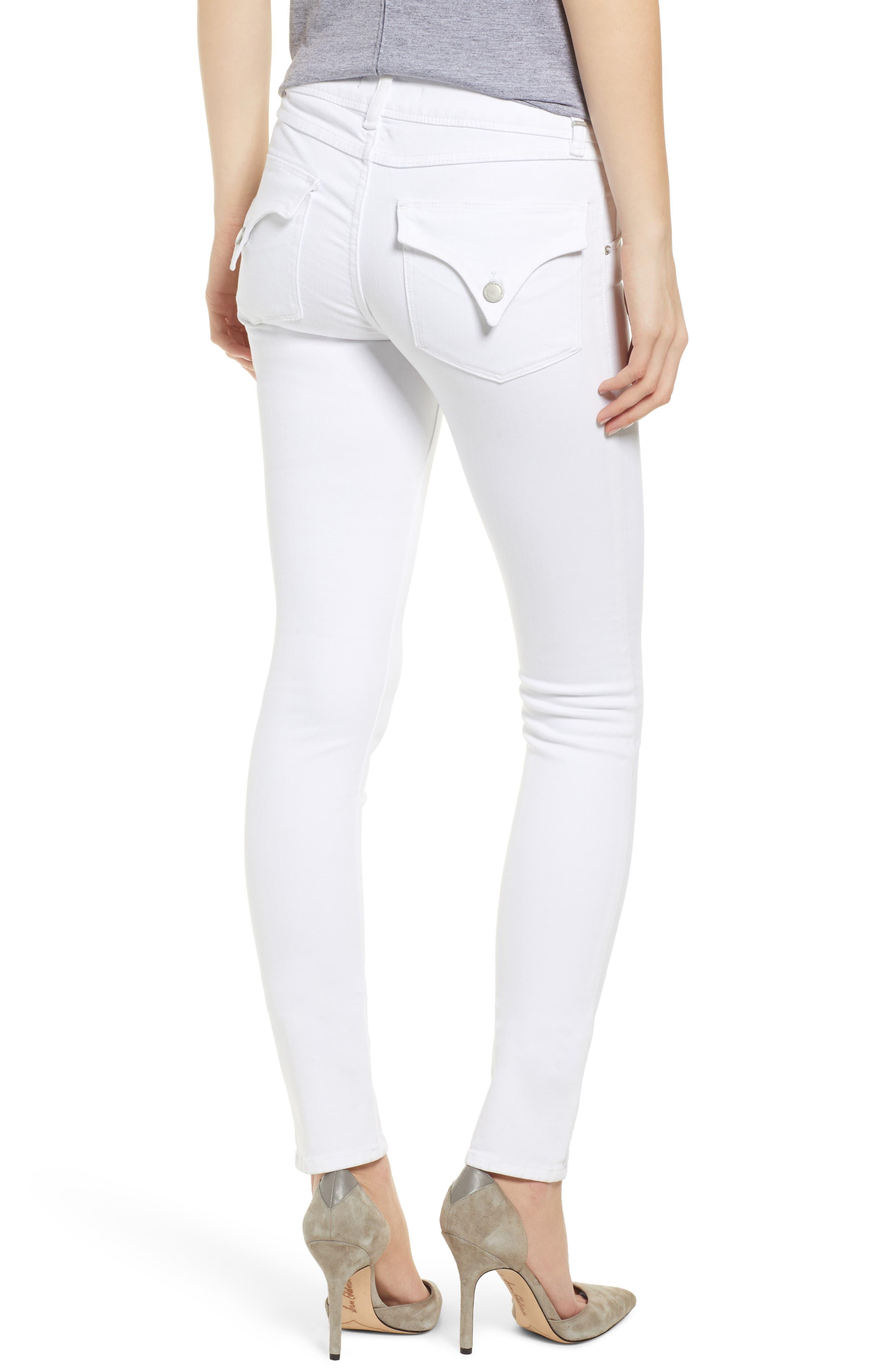 HUDSON JEANS,                             Collin Skinny Jeans,                             Alternate thumbnail 2, color,                             WHITE