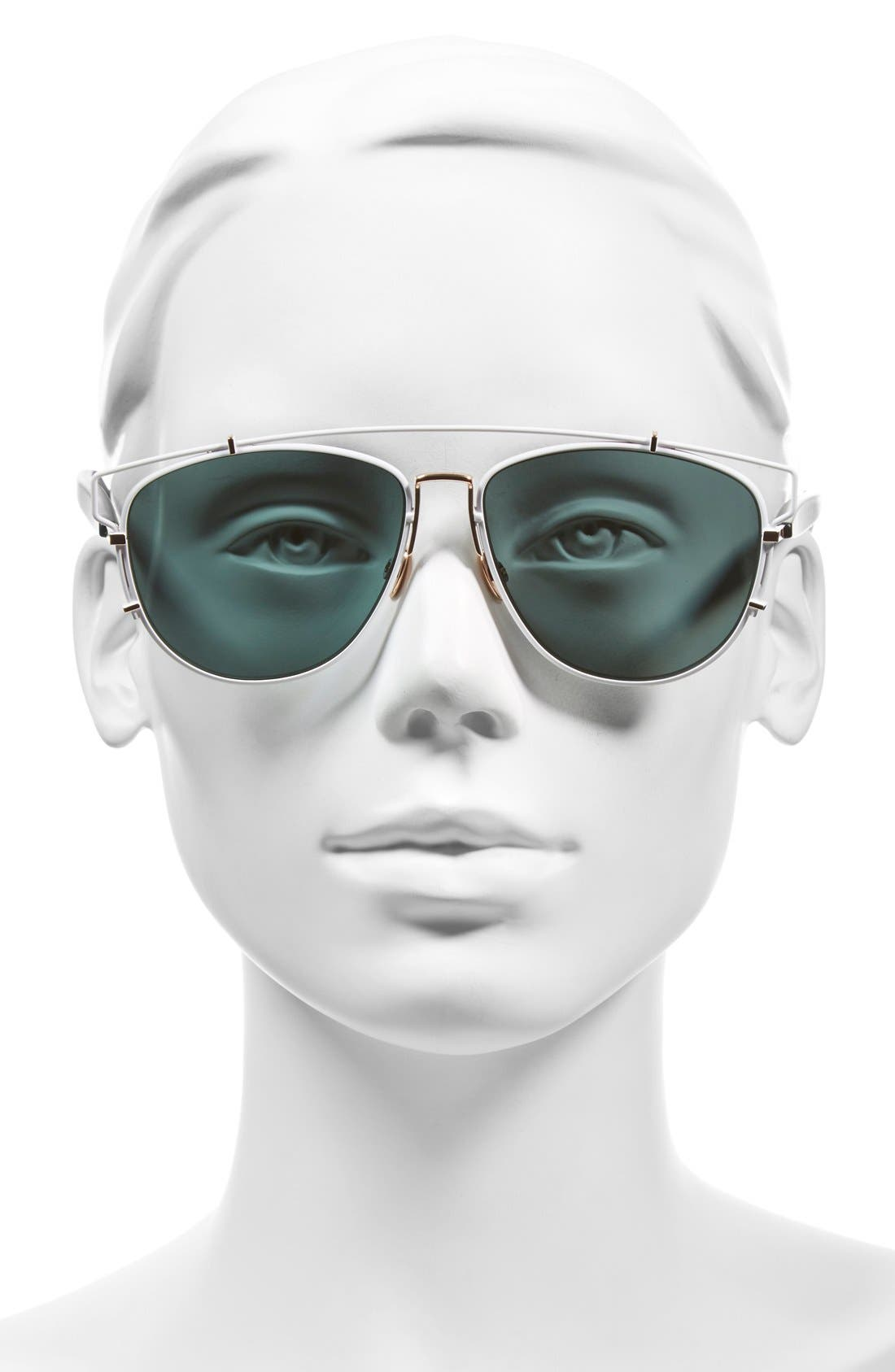 Technologic 57mm Brow Bar Sunglasses,                             Alternate thumbnail 21, color,
