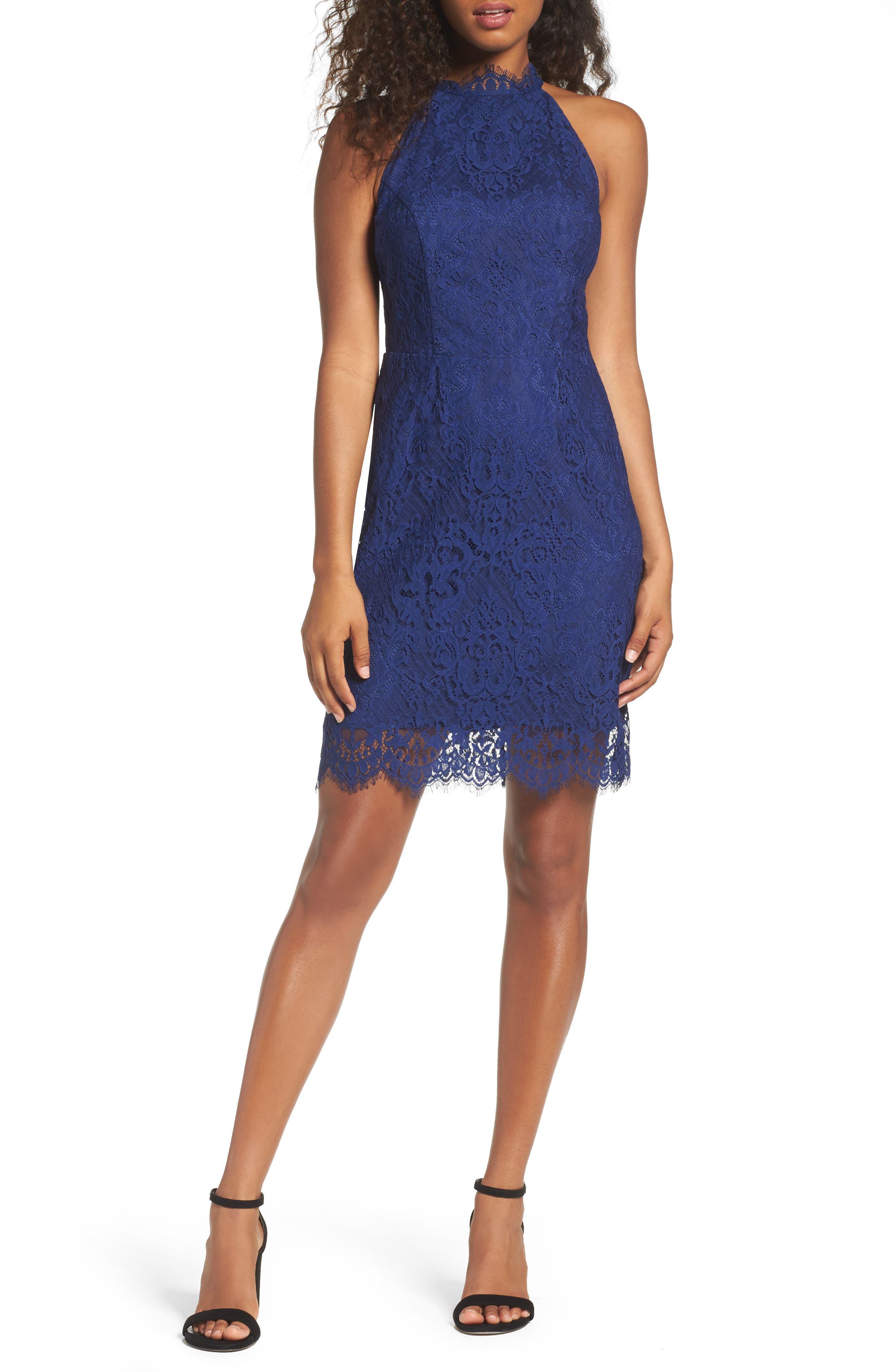 Cherie Lace Sheath Dress,                         Main,                         color, 401