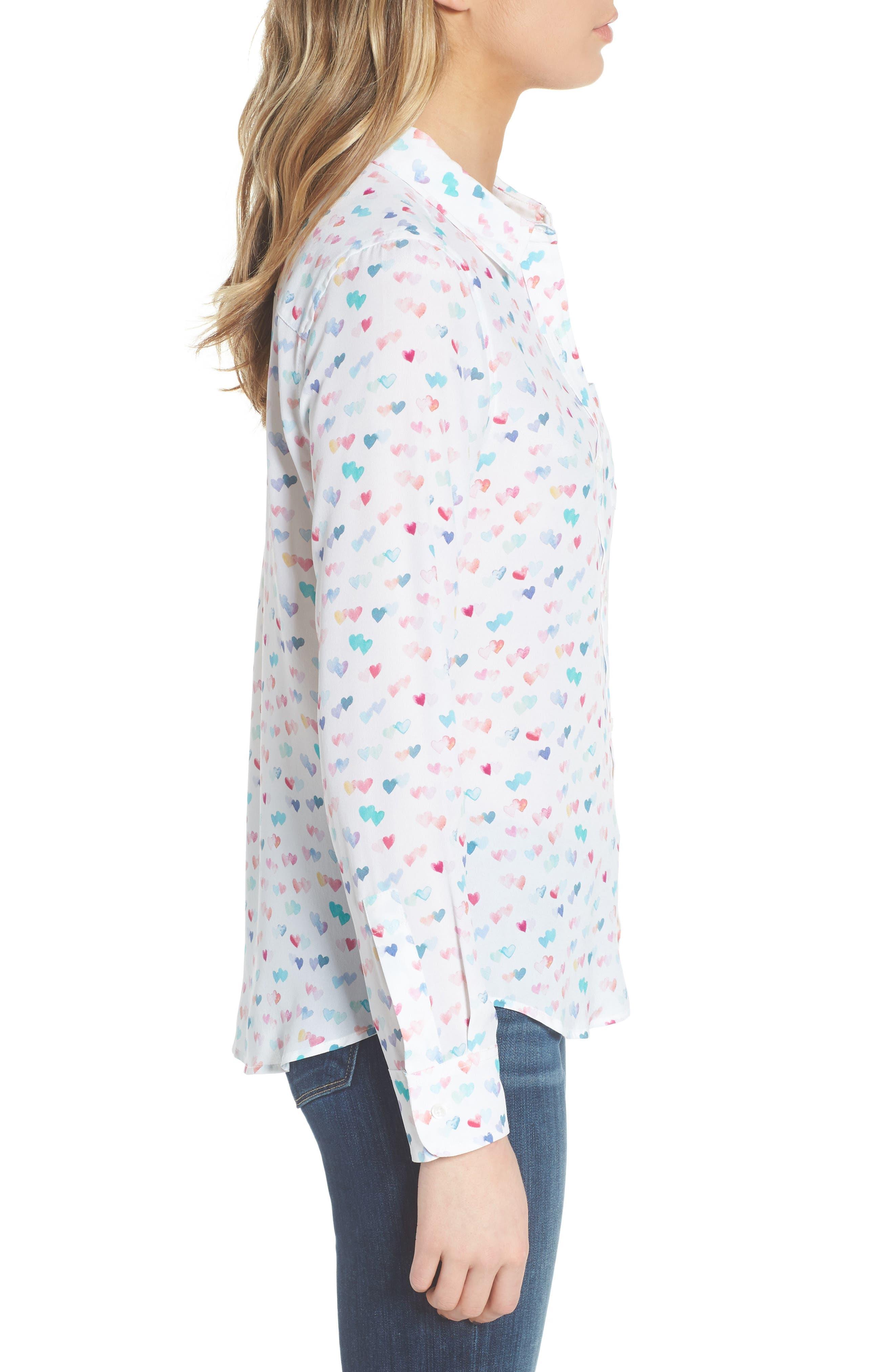 Kate Print Shirt,                             Alternate thumbnail 42, color,