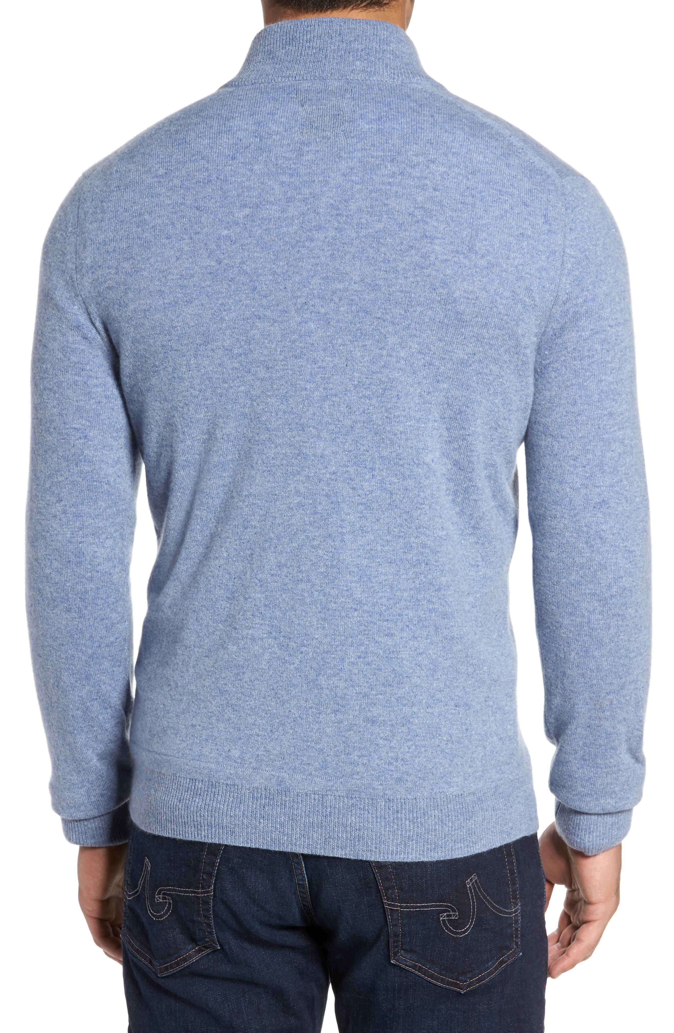 Cashmere Quarter Zip Sweater,                             Alternate thumbnail 11, color,