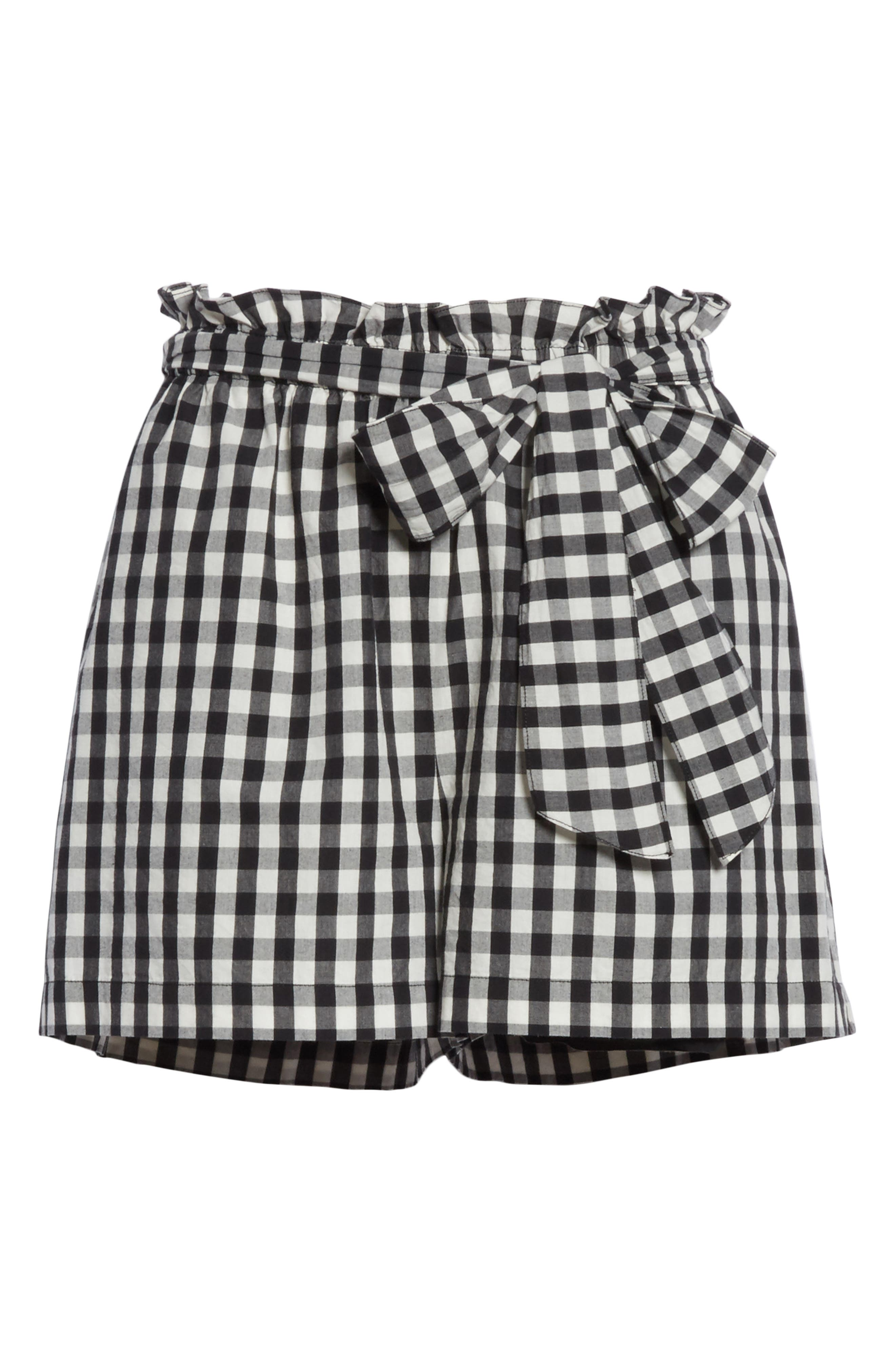 JOIE,                             Cleantha Gingham Cotton Shorts,                             Alternate thumbnail 6, color,                             001