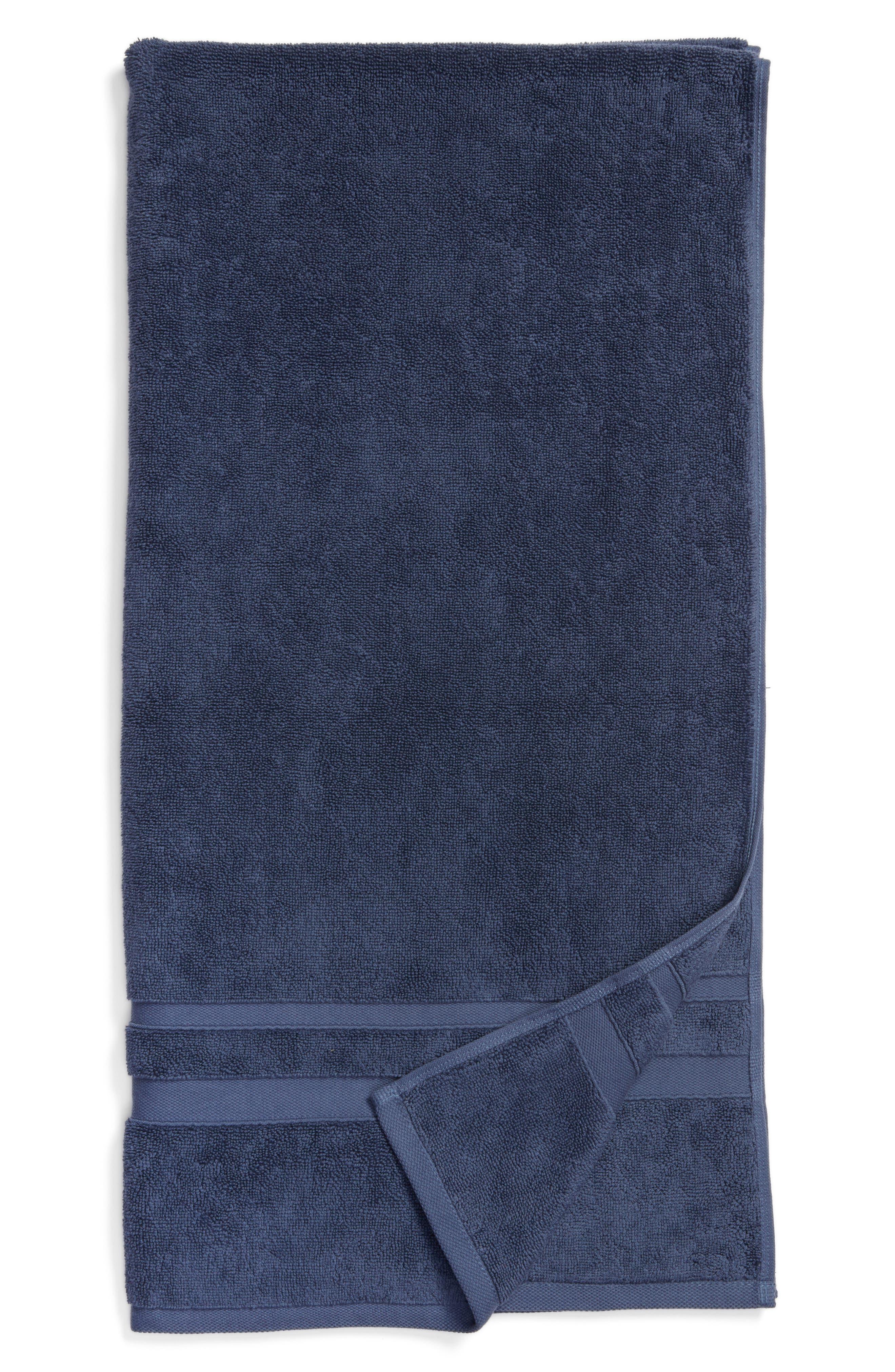 Studio 'Perennial' Turkish Cotton Bath Towel,                             Main thumbnail 1, color,                             INDIGO BLUE