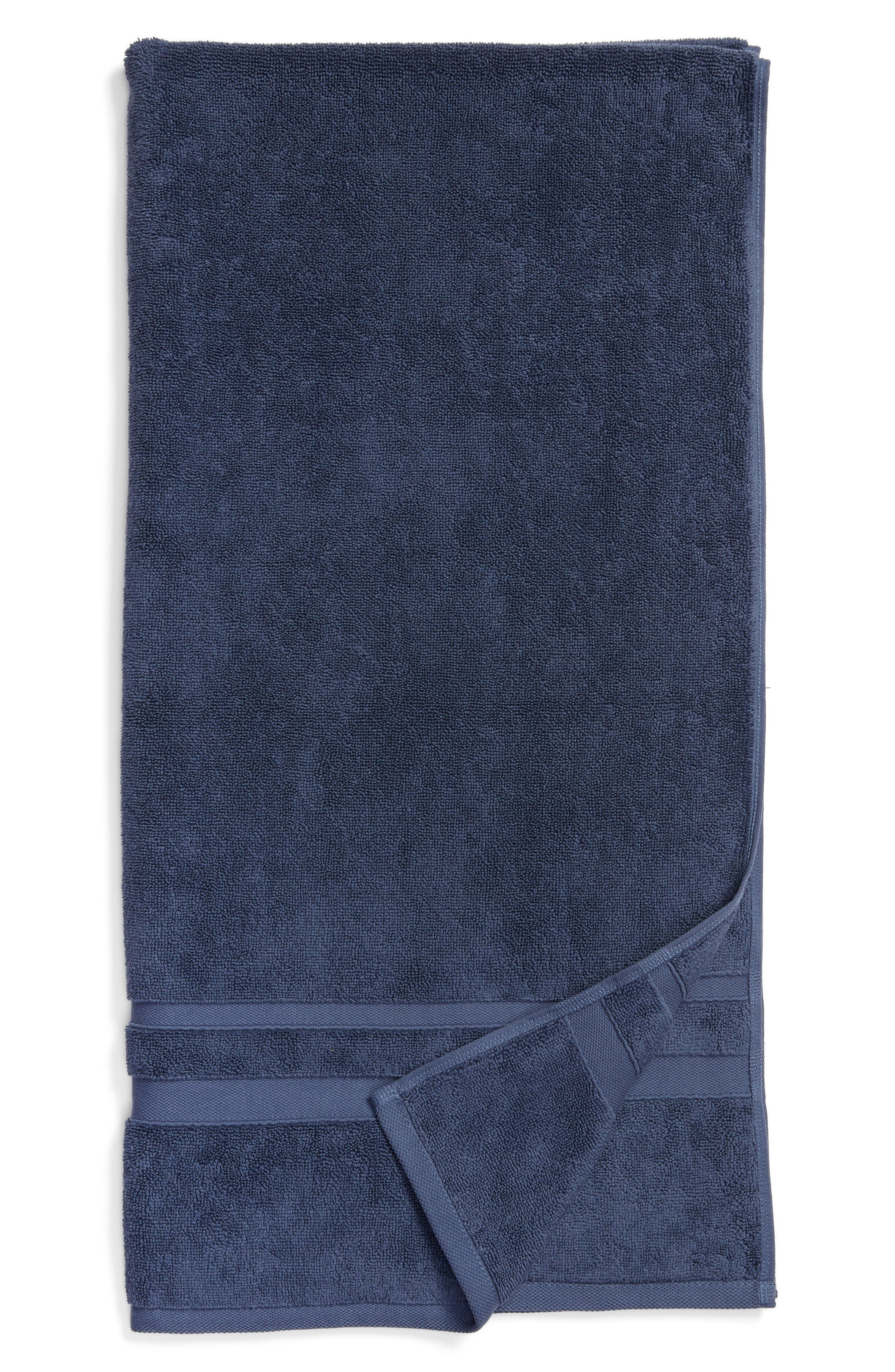 Studio 'Perennial' Turkish Cotton Bath Towel,                         Main,                         color, INDIGO BLUE