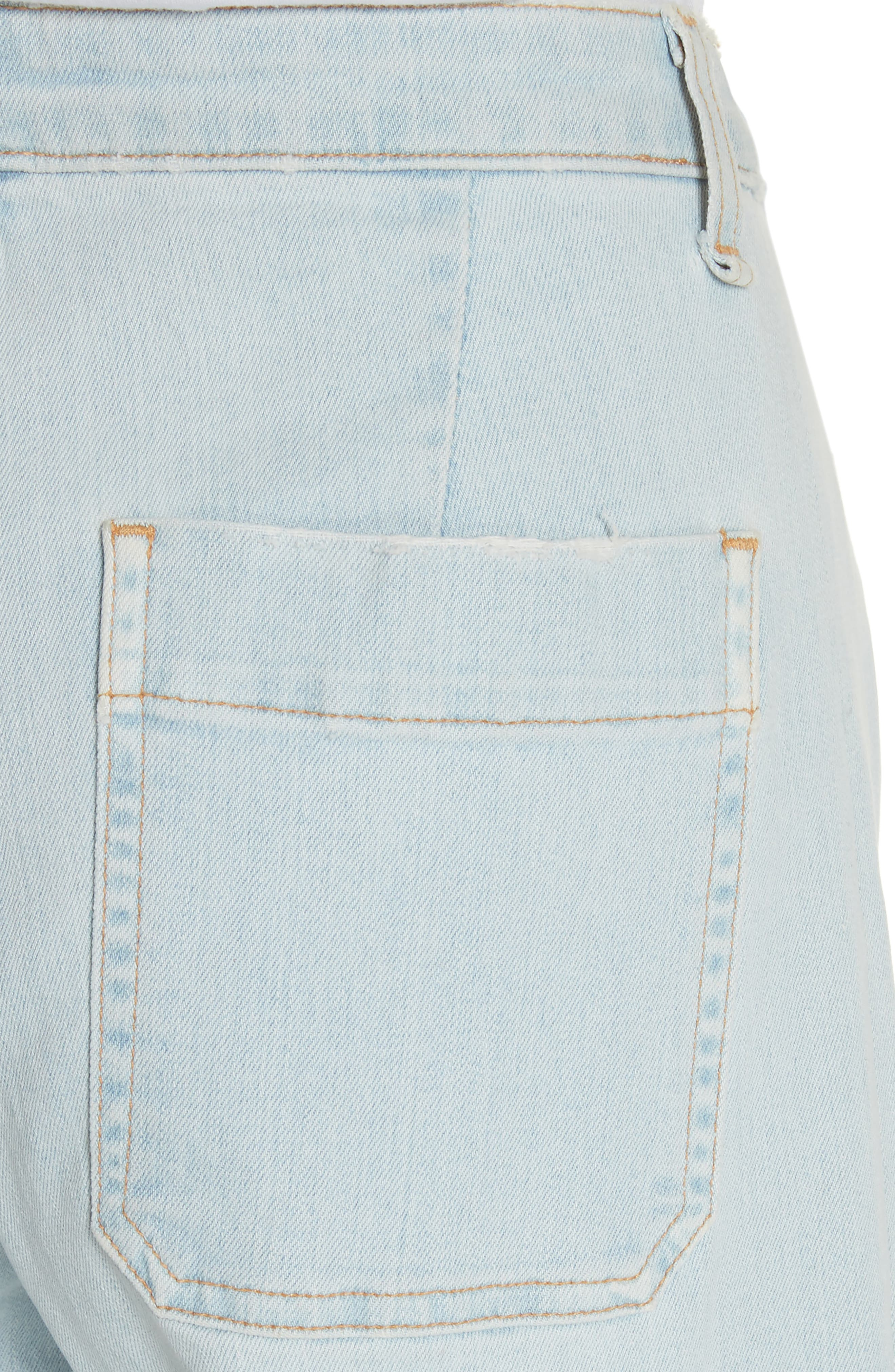 Ali High Waist Gaucho Jeans,                             Alternate thumbnail 4, color,                             400