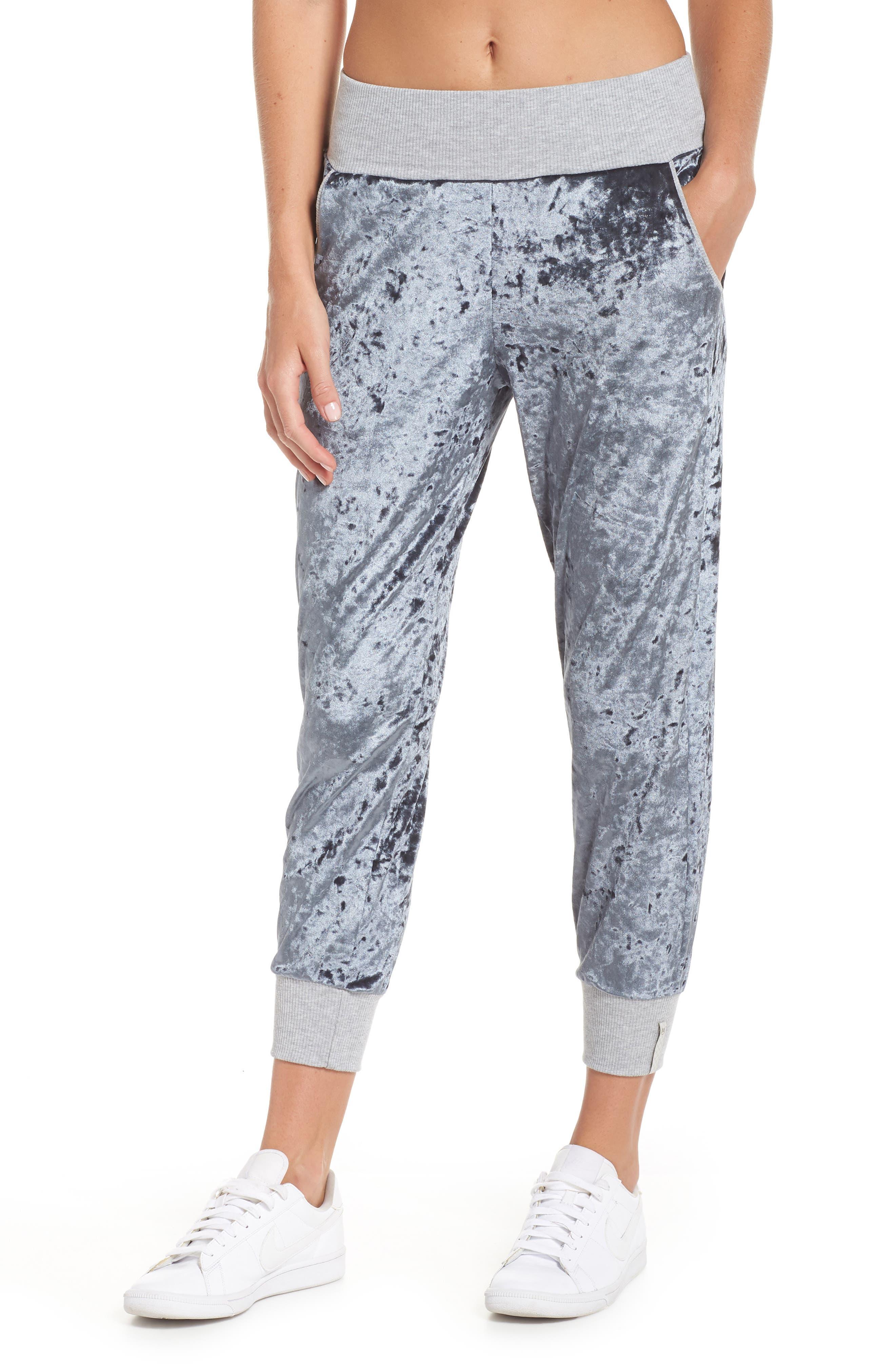 Hazy Velour Slate Jogger Pants,                         Main,                         color, BRIGHT BLUE