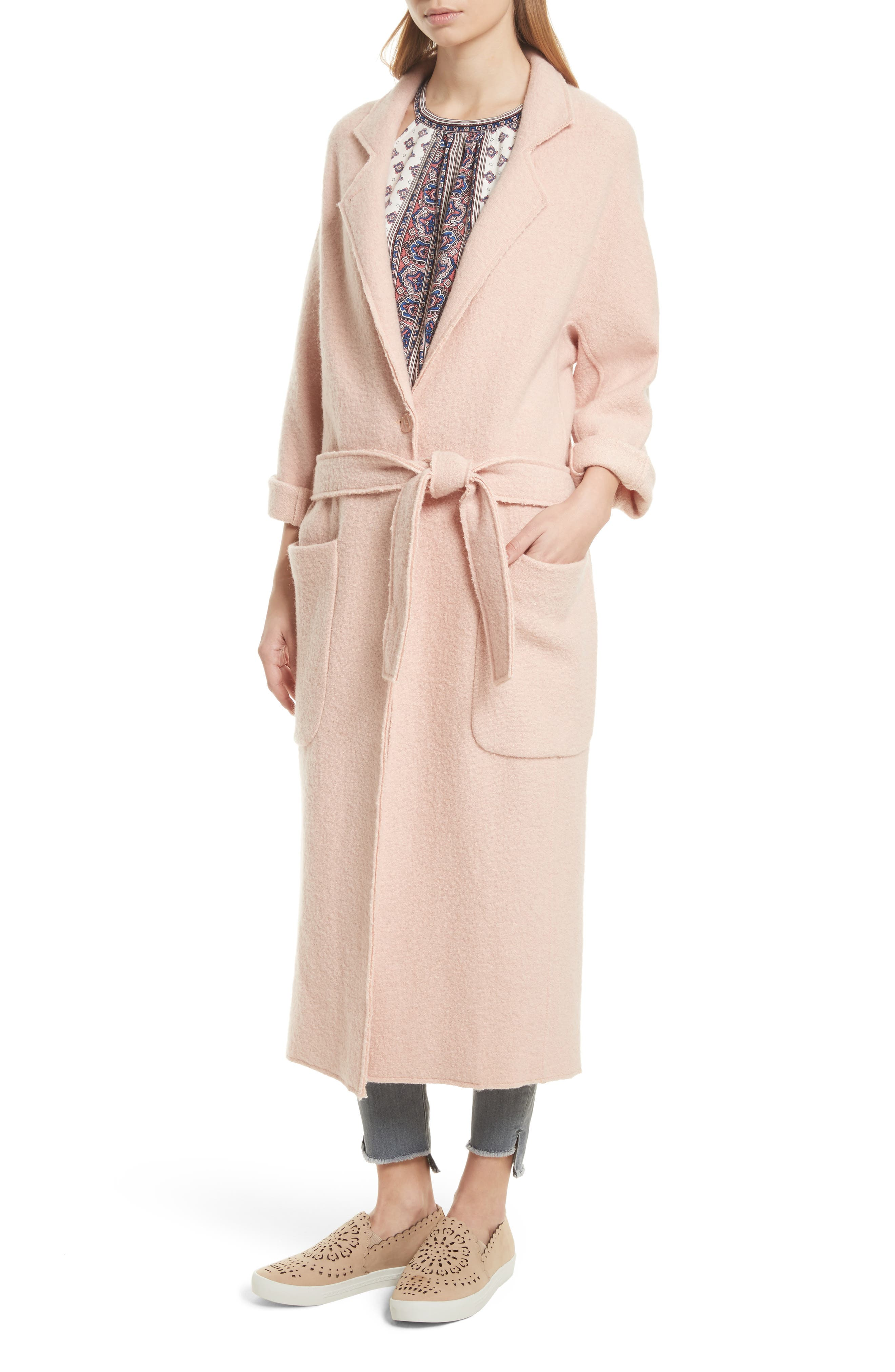 Rodina Long Wool Blend Coat,                             Alternate thumbnail 4, color,                             685