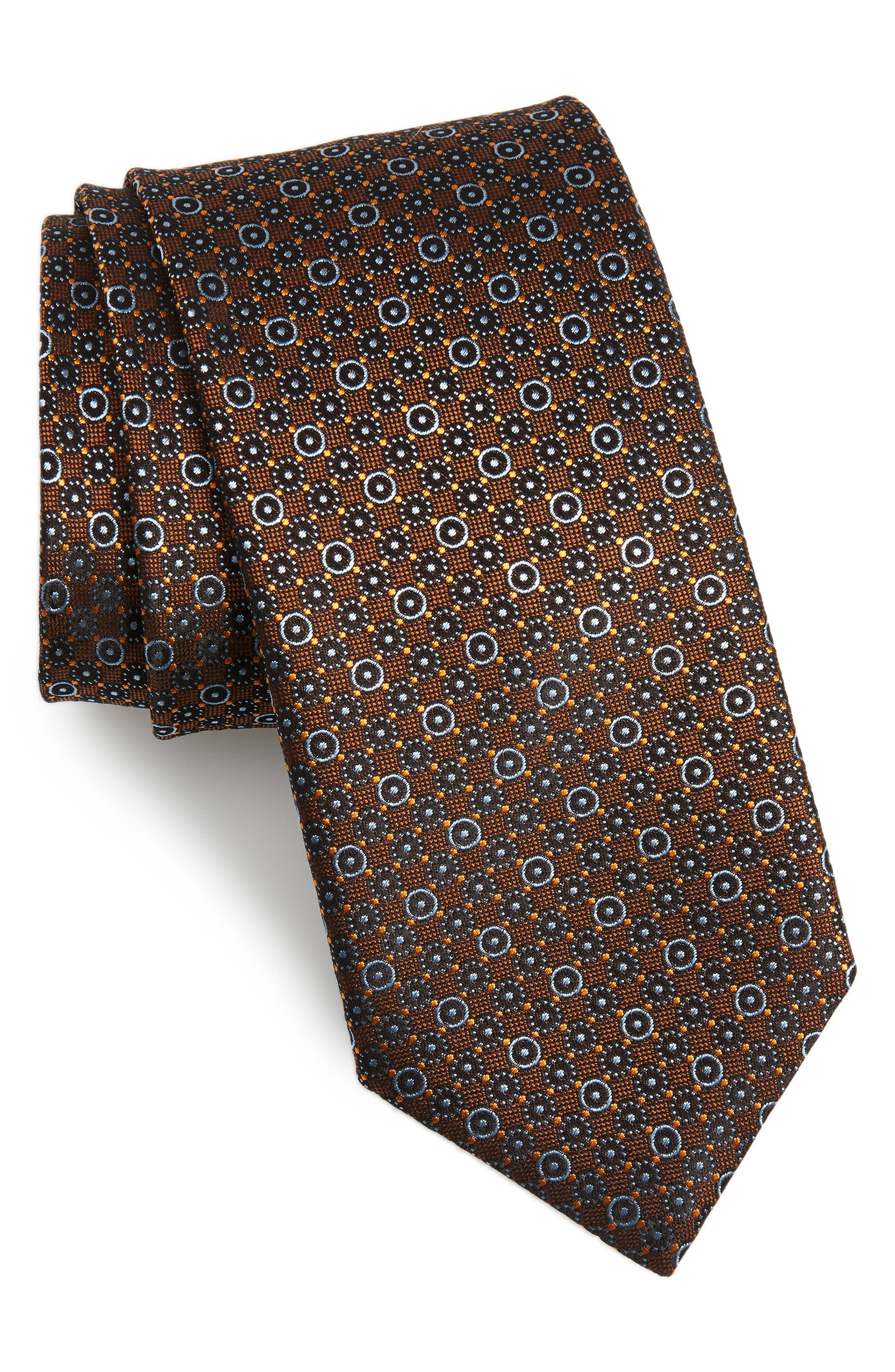 Geometric Silk Tie,                             Main thumbnail 1, color,                             200
