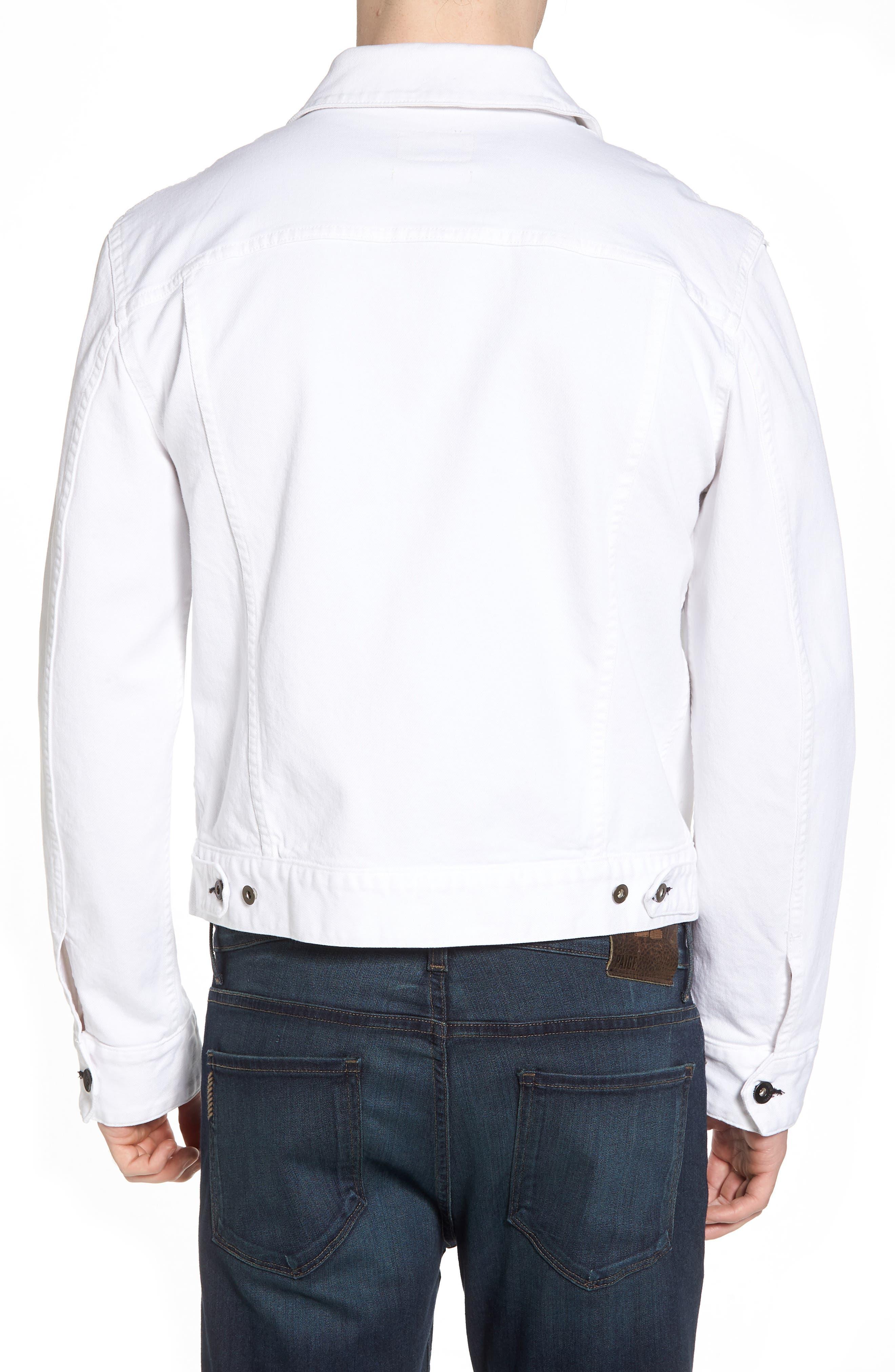 Denim Jacket,                             Alternate thumbnail 2, color,                             WHITE