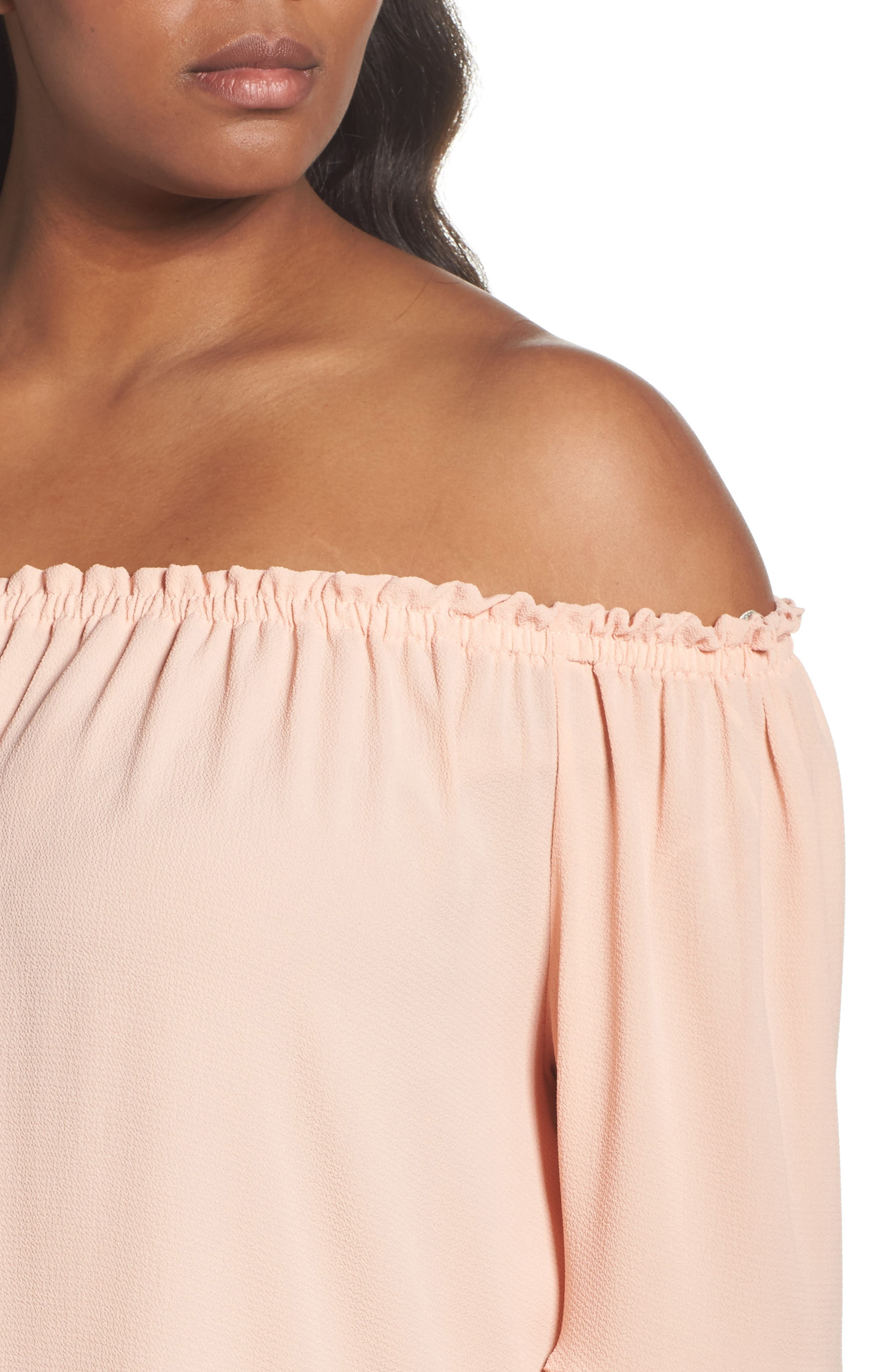 Bell Sleeve Off the Shoulder Top,                             Alternate thumbnail 4, color,