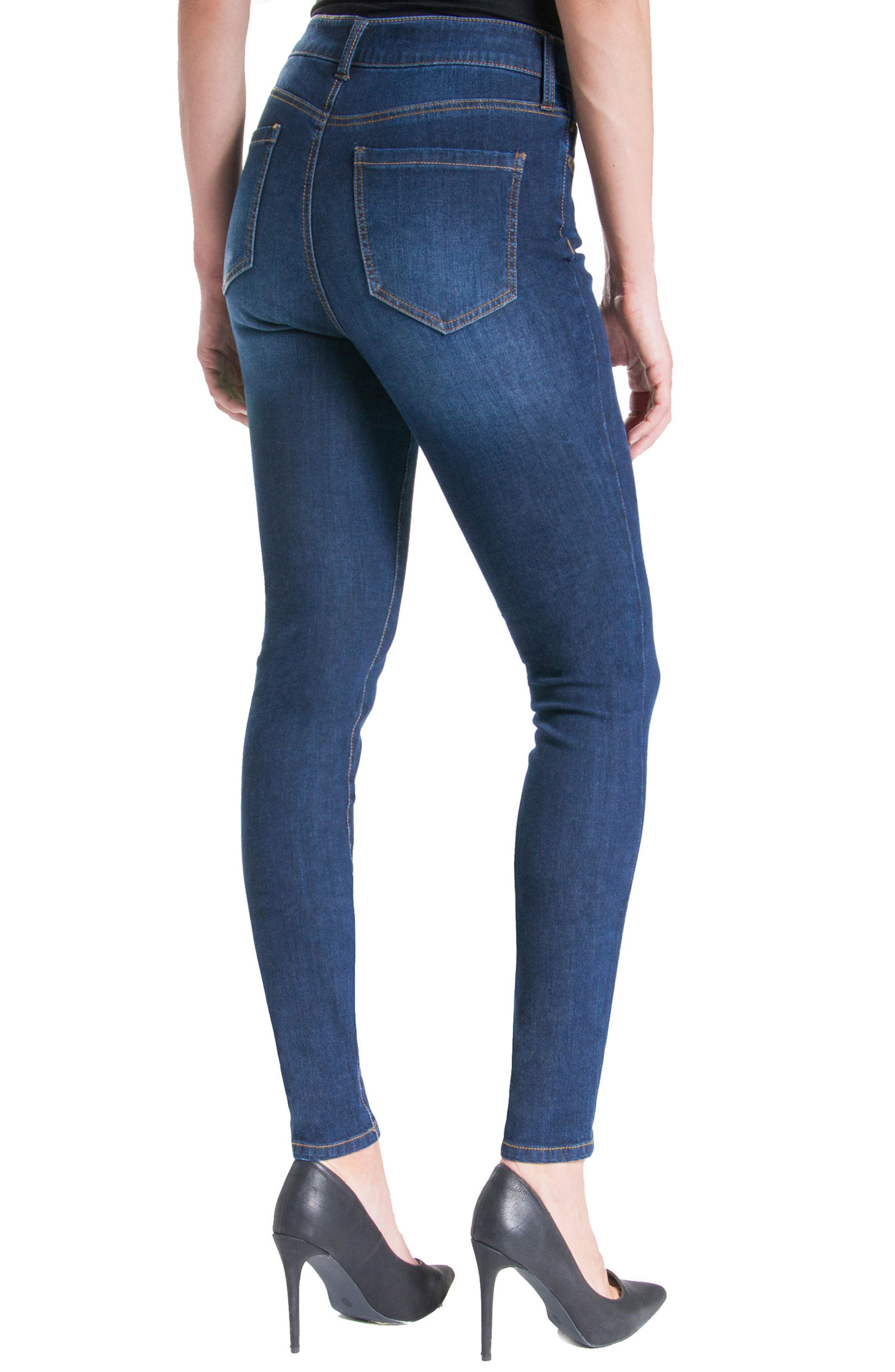 Abby Stretch Skinny Jeans,                             Alternate thumbnail 4, color,                             401