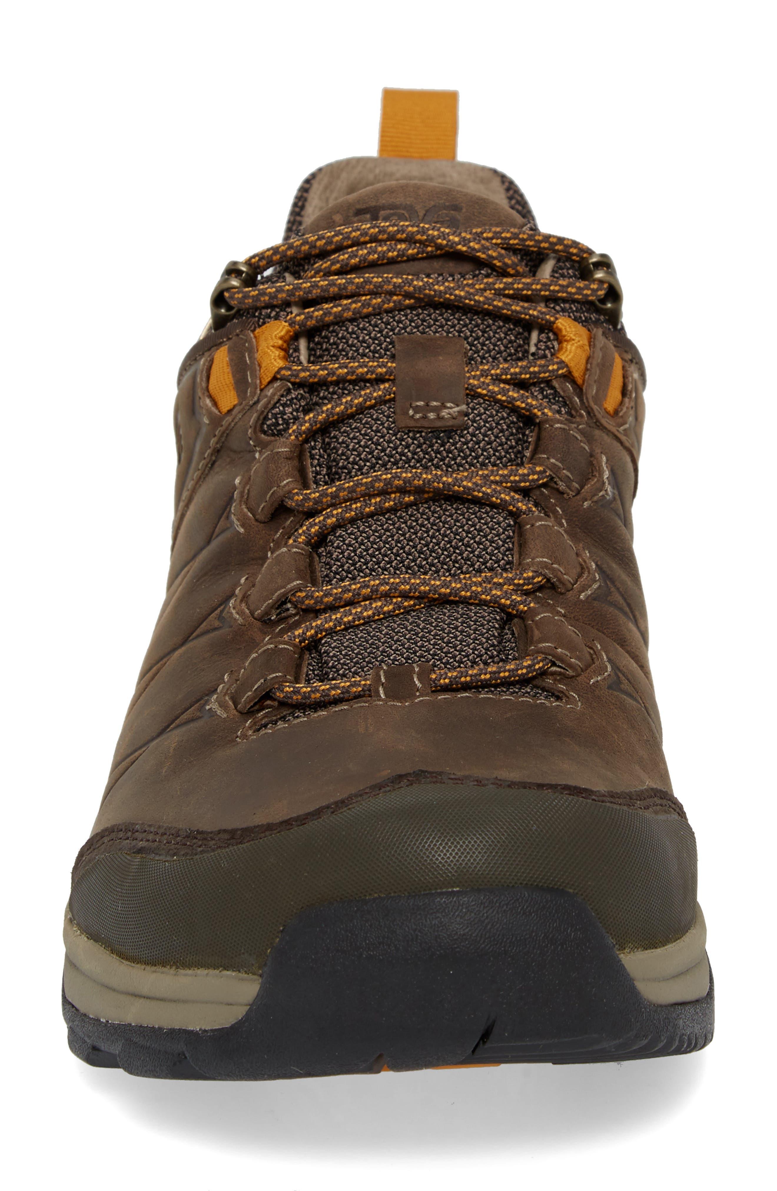 Arrowood Riva Waterproof Sneaker,                             Alternate thumbnail 4, color,                             WALNUT LEATHER