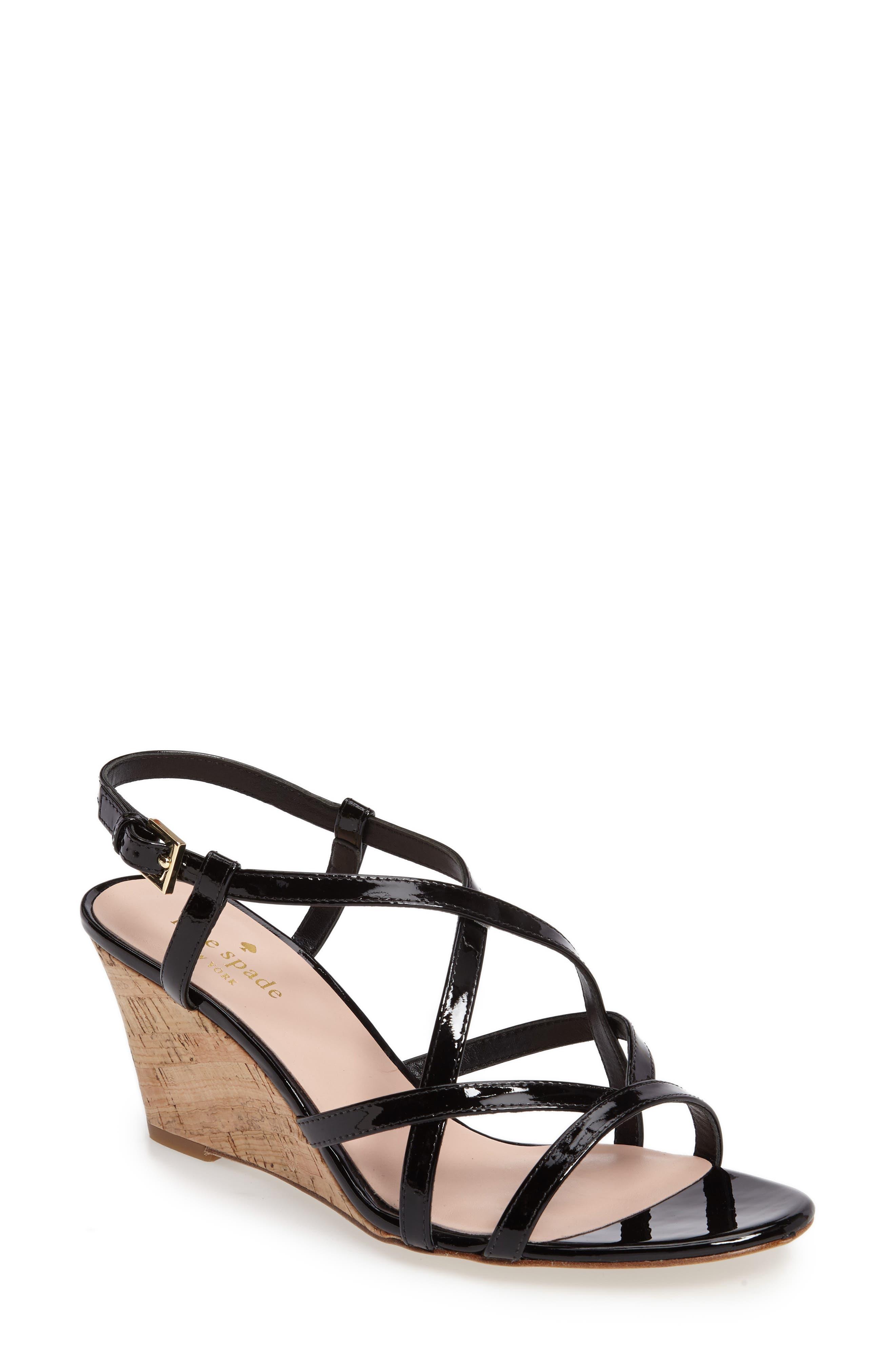 rockaway wedge sandal,                         Main,                         color, 001