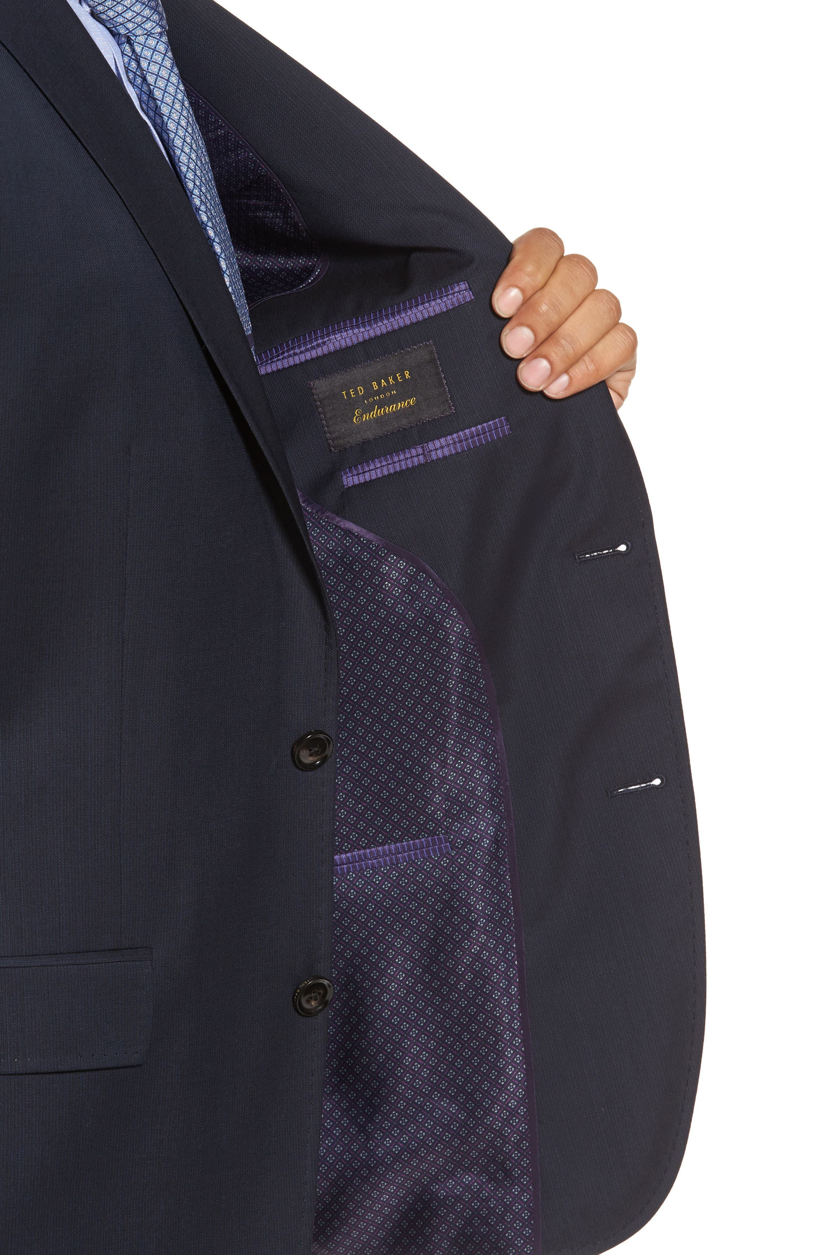 Trim Fit Solid Wool Suit,                             Alternate thumbnail 4, color,