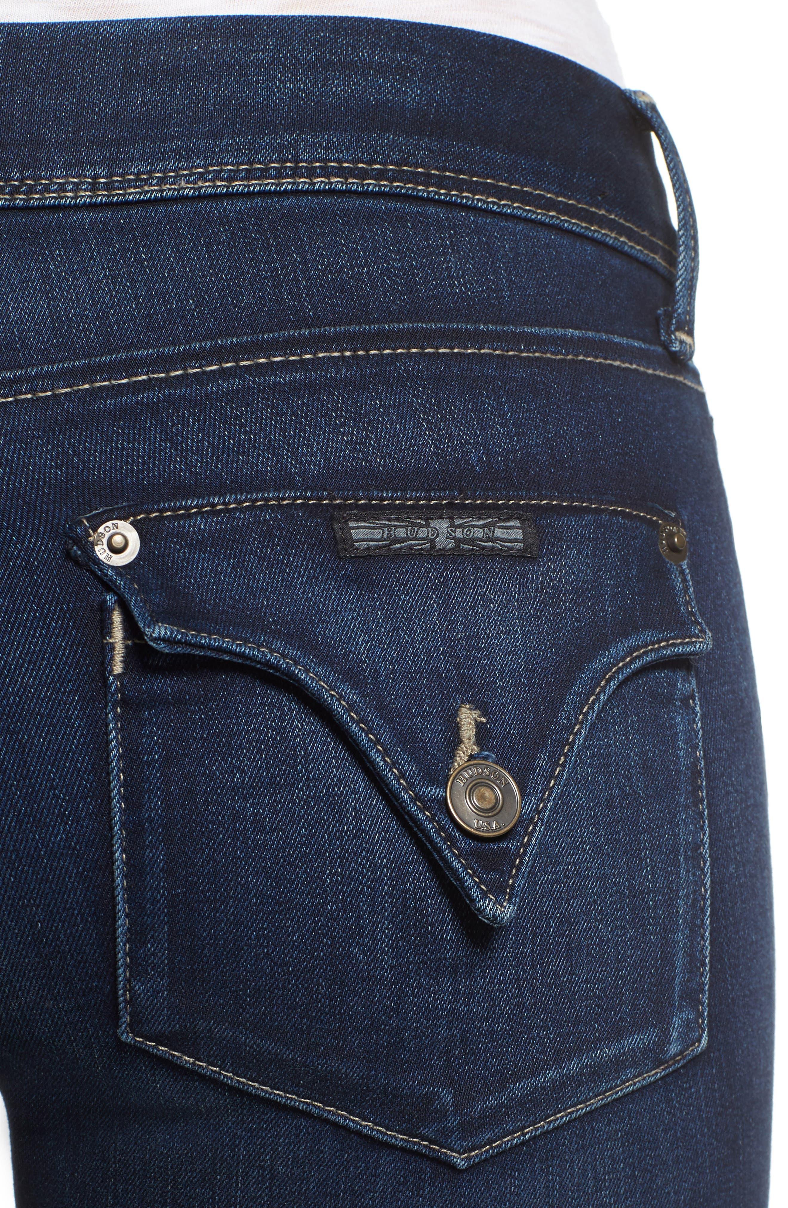 'Collin' Supermodel Skinny Jeans,                             Alternate thumbnail 4, color,                             CREST FALL