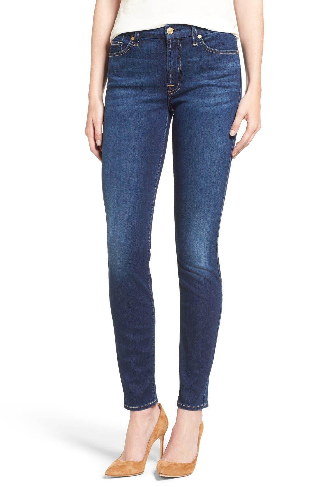 b(air) Skinny Jeans,                             Alternate thumbnail 6, color,                             400