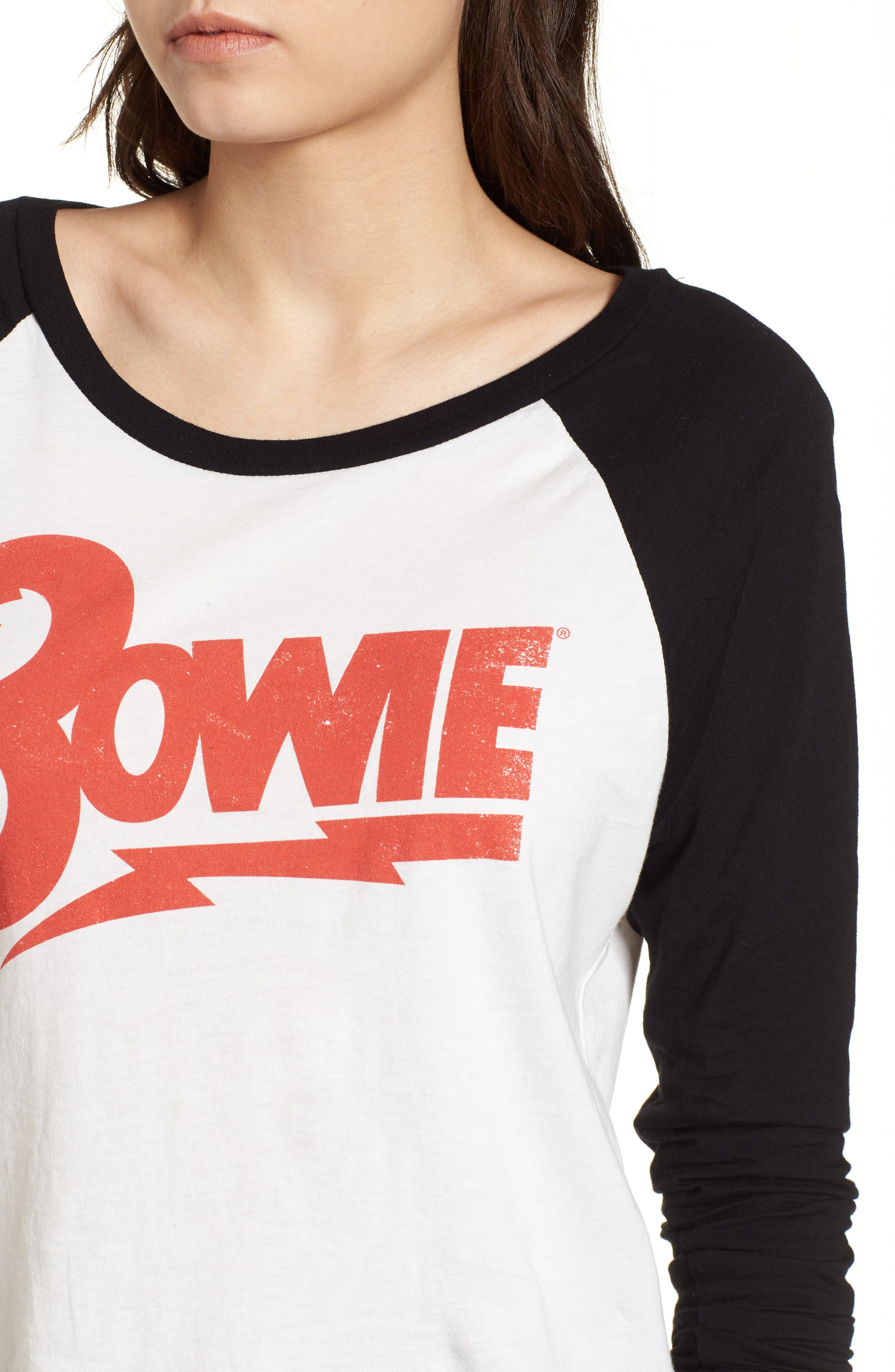 David Bowie Raglan Tee,                             Alternate thumbnail 4, color,