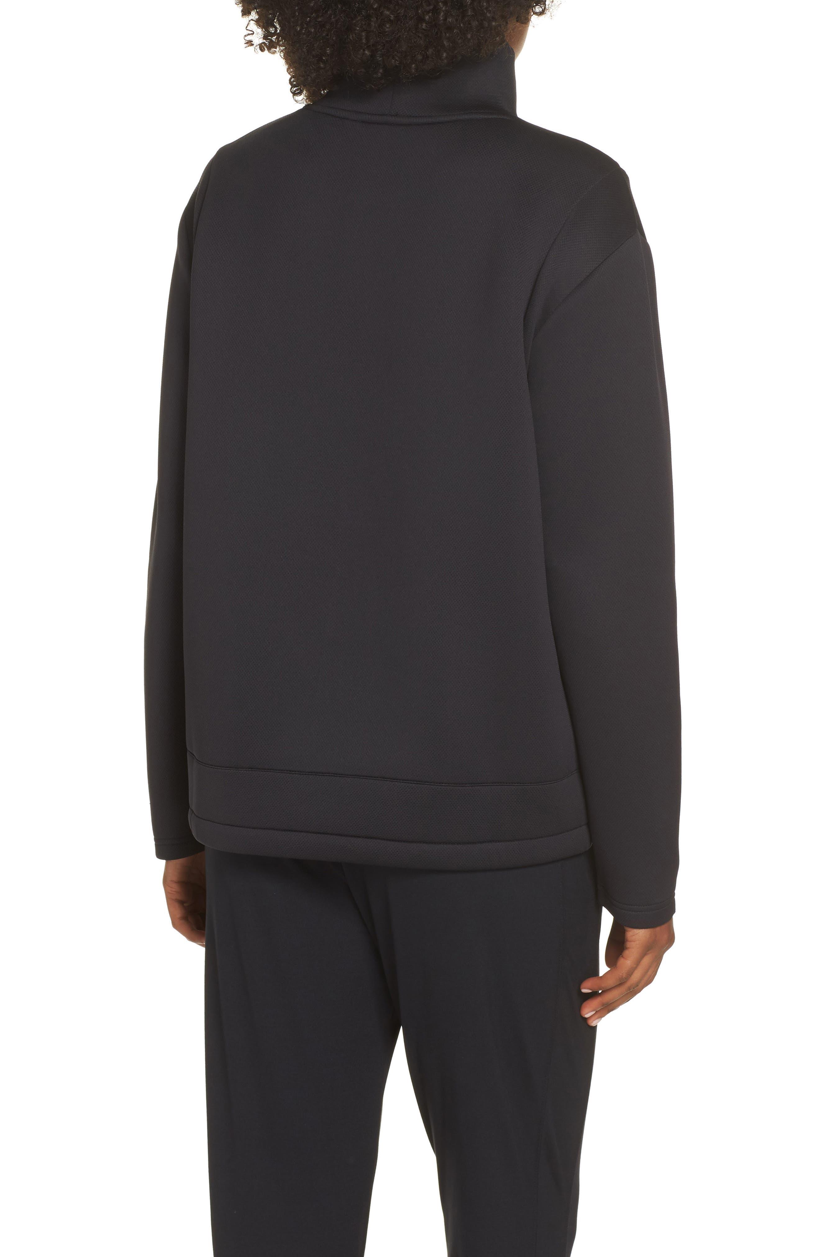All About It Funnel Neck Sweatshirt,                             Alternate thumbnail 2, color,                             BLACK