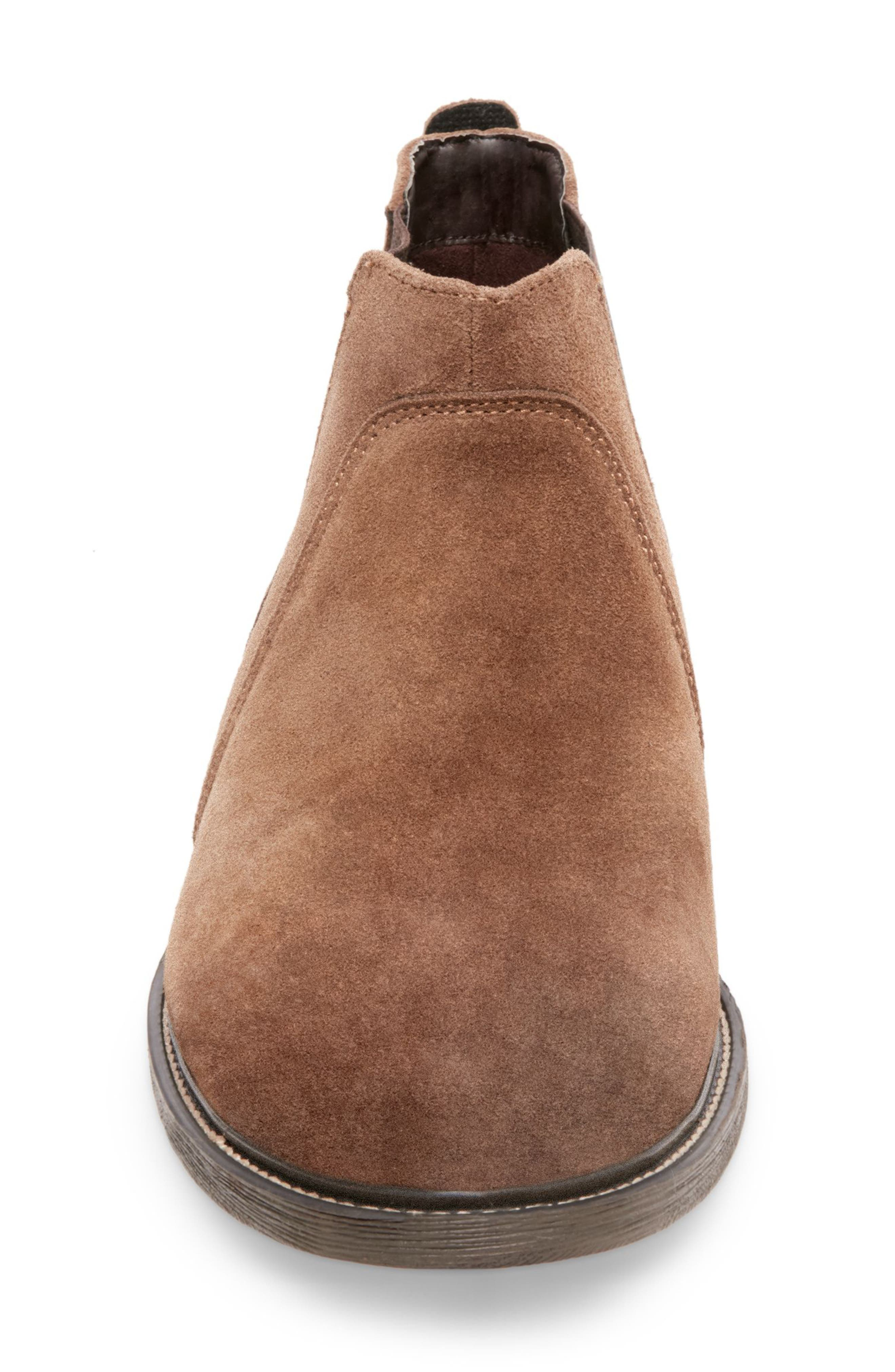 Tampa Chelsea Boot,                             Alternate thumbnail 3, color,                             CAMEL SUEDE