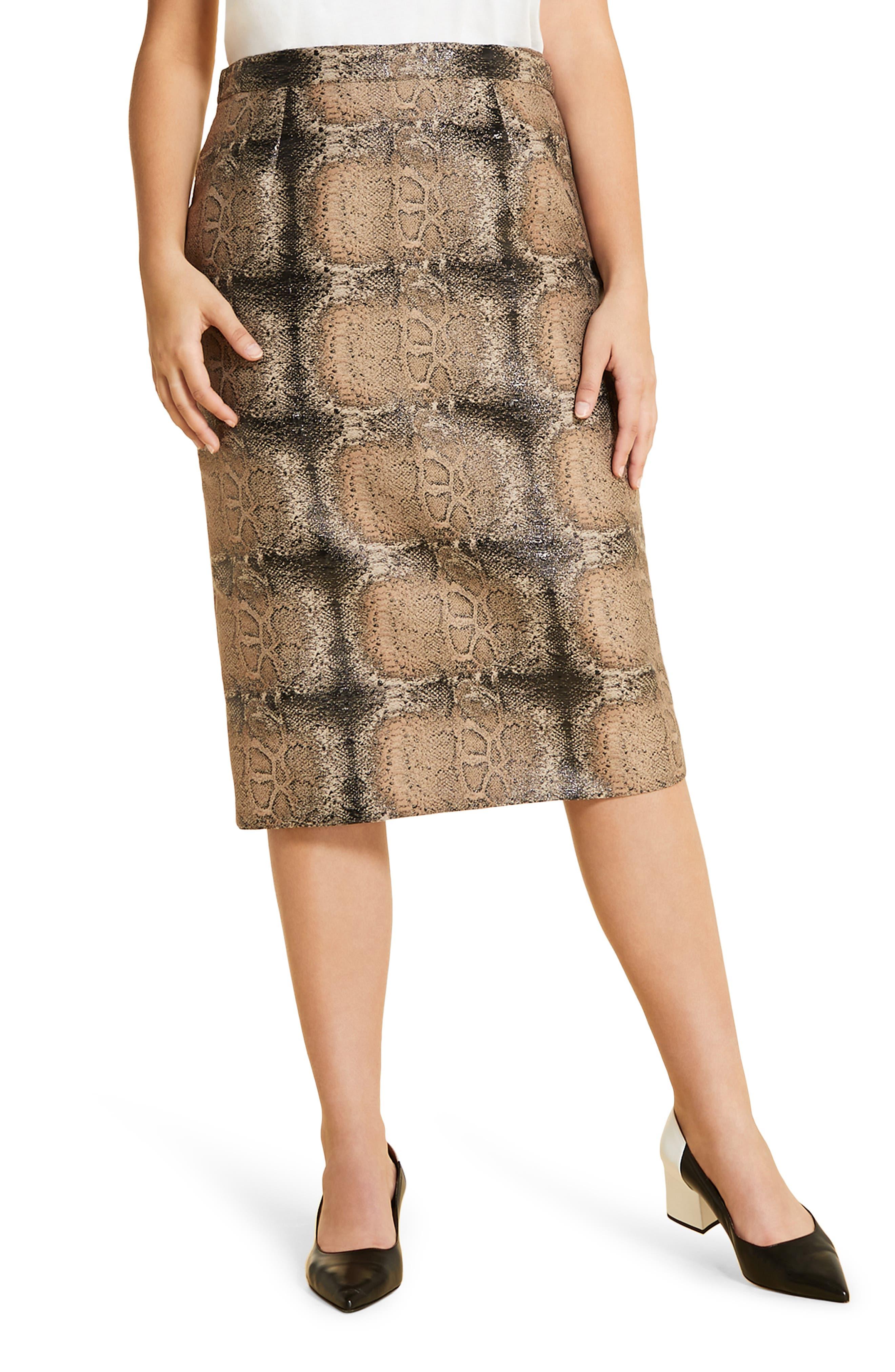 plus size women's marina rinaldi casanova pencil skirt