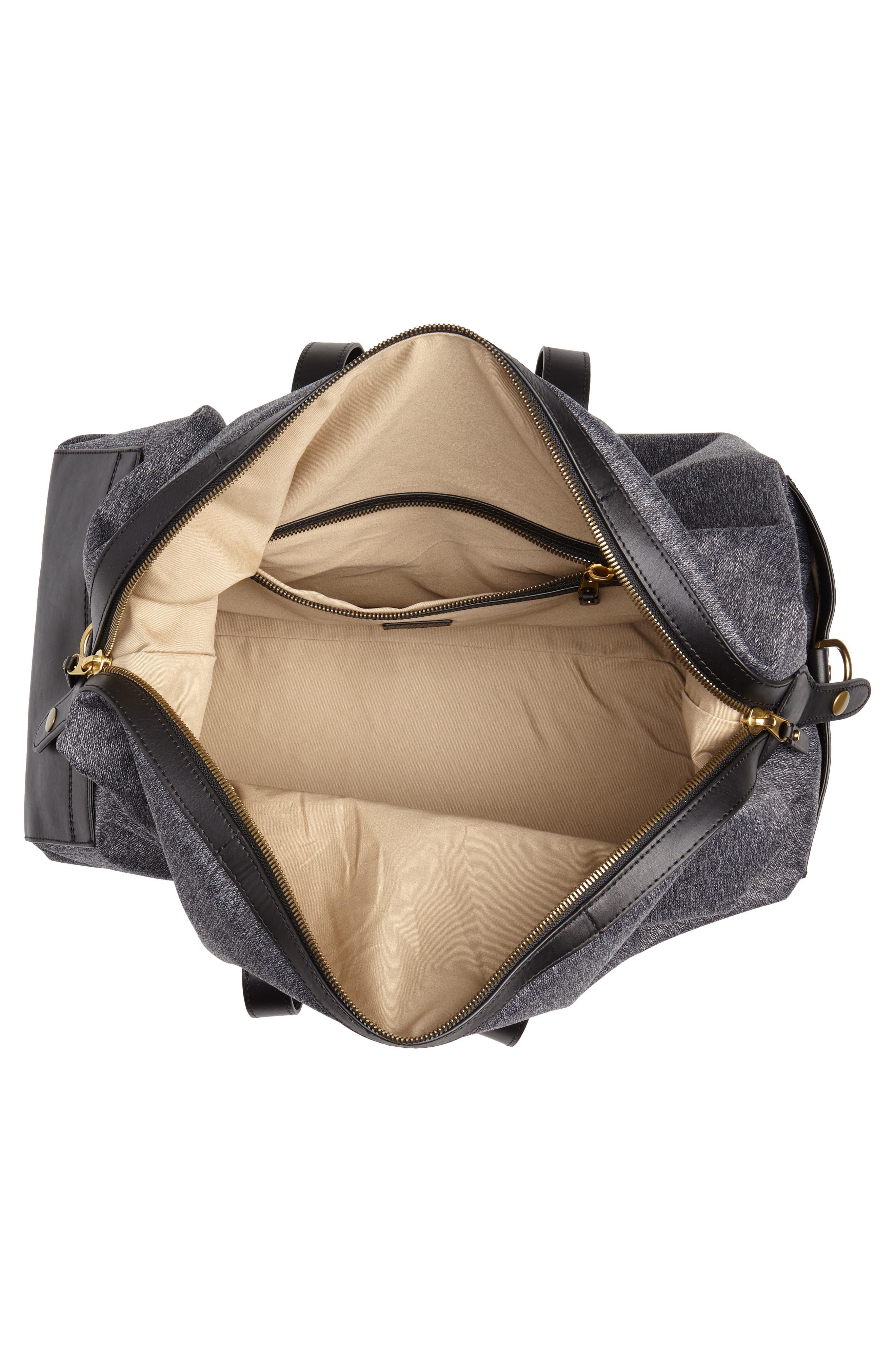 Oar Stripe Weekend Bag,                             Alternate thumbnail 4, color,                             001