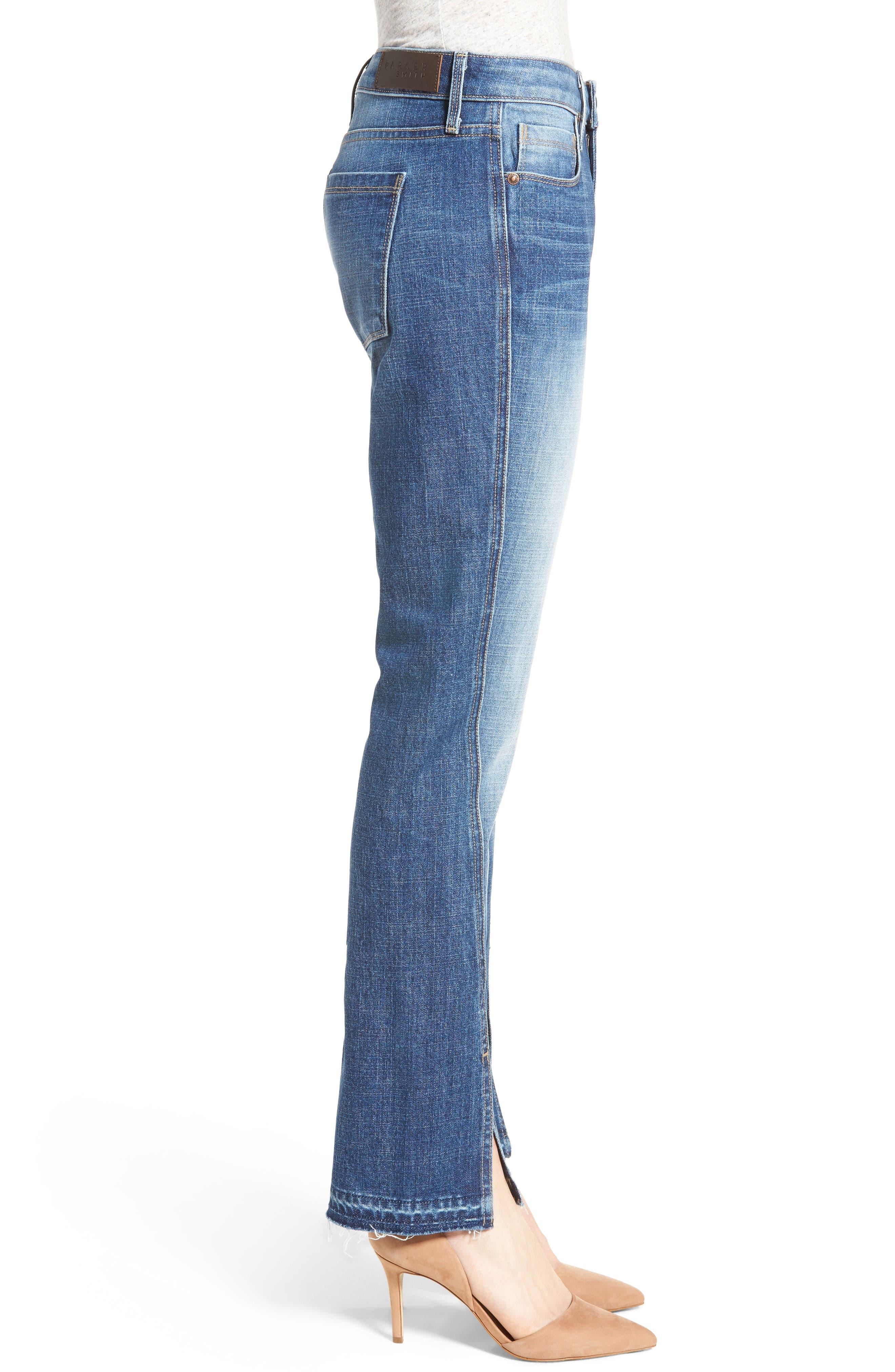 Vented Seam Straight Leg Jeans,                             Alternate thumbnail 3, color,                             483