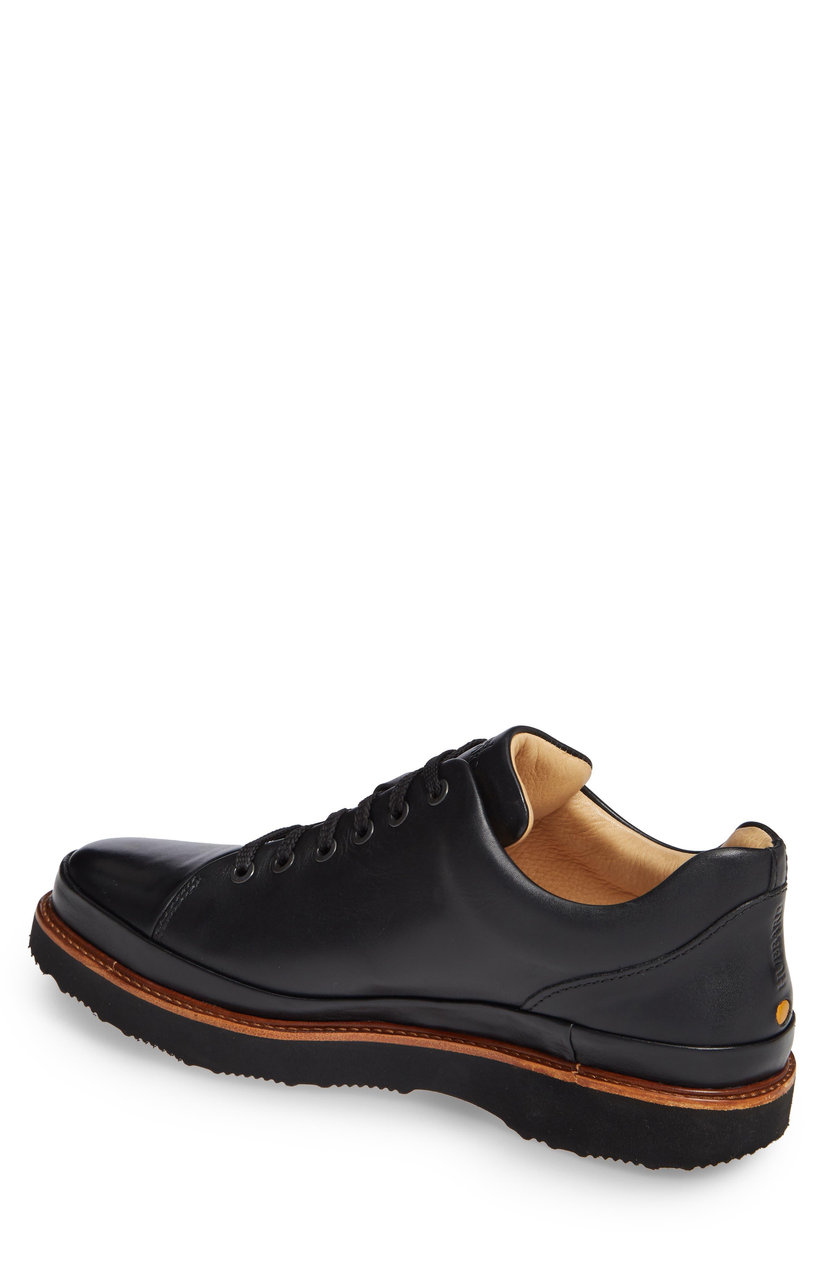 Dress Fast Plain Toe Oxford,                             Alternate thumbnail 2, color,                             BLACK/ BLACK