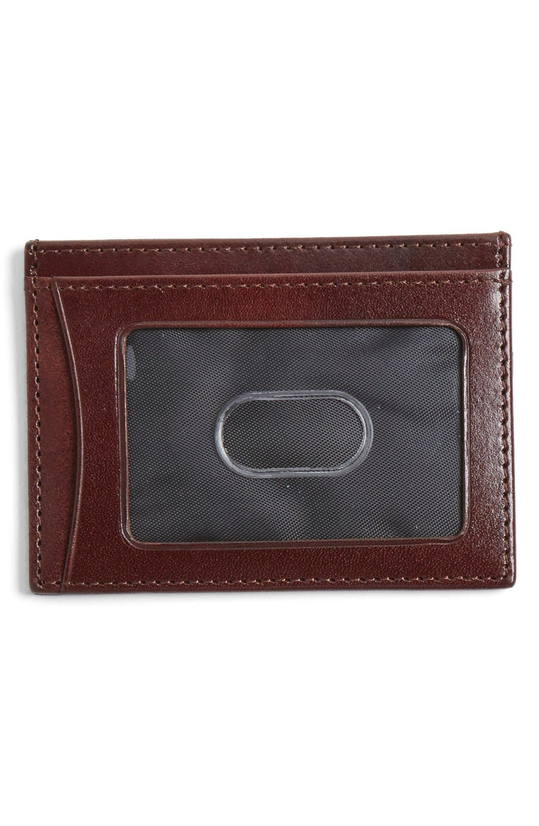 Leather Card Case,                             Alternate thumbnail 2, color,                             MAHOGANY