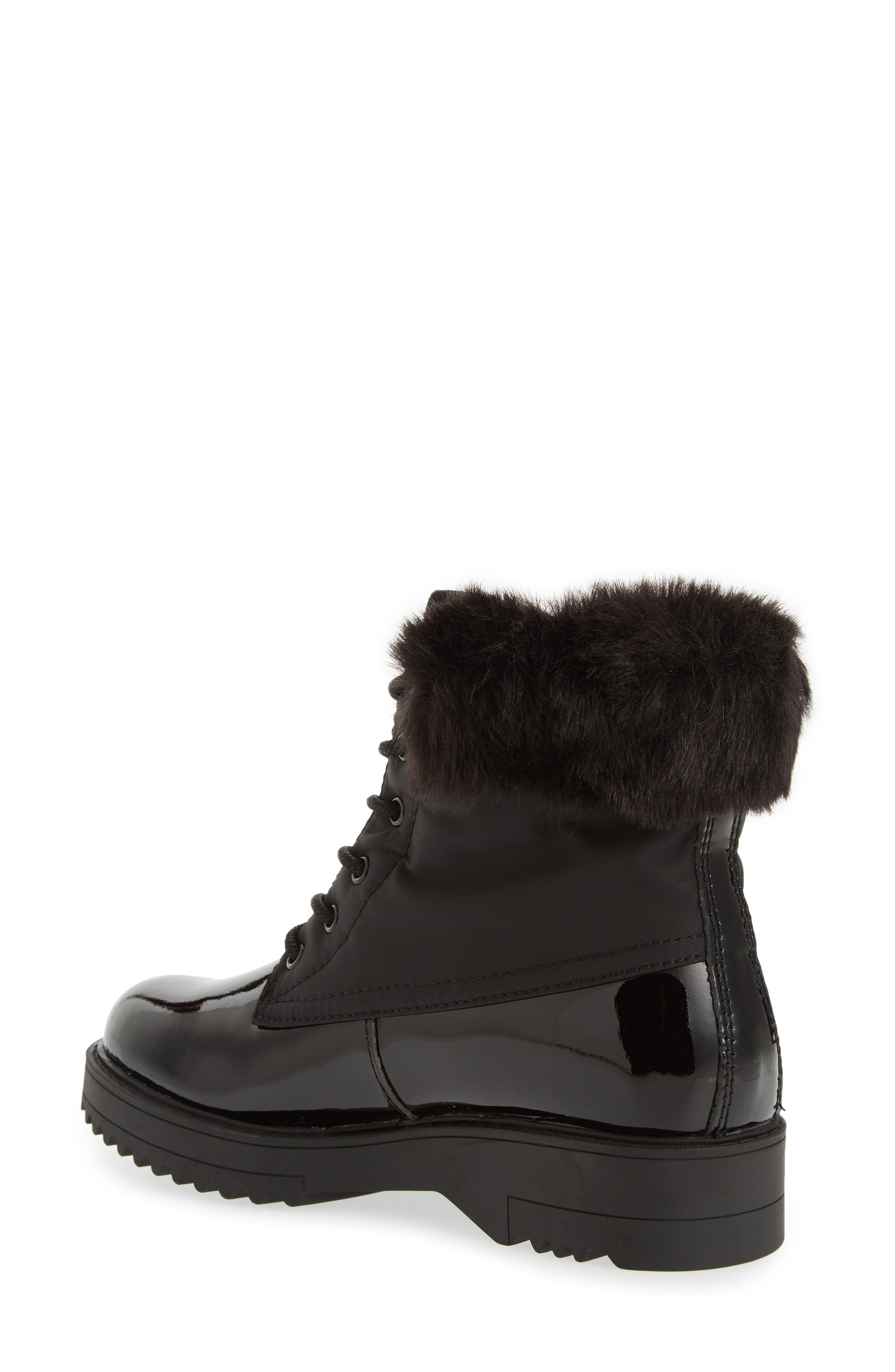 Gatineau Waterproof Insulated Boot with Faux Fur Collar,                             Alternate thumbnail 2, color,                             BLACK LEATHER