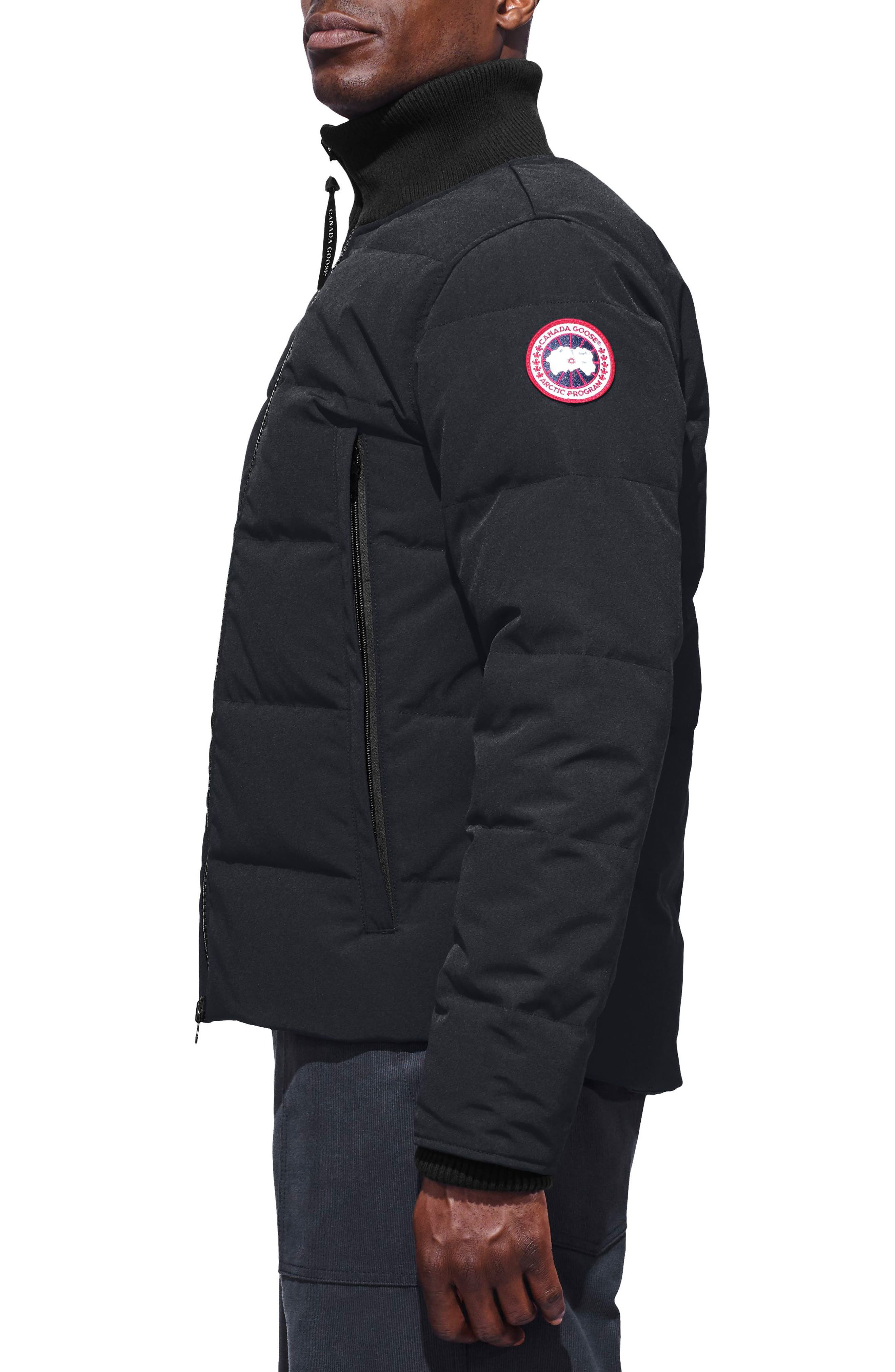 CANADA GOOSE,                             Woolford Fusion Fit Down Jacket,                             Alternate thumbnail 4, color,                             NAVY