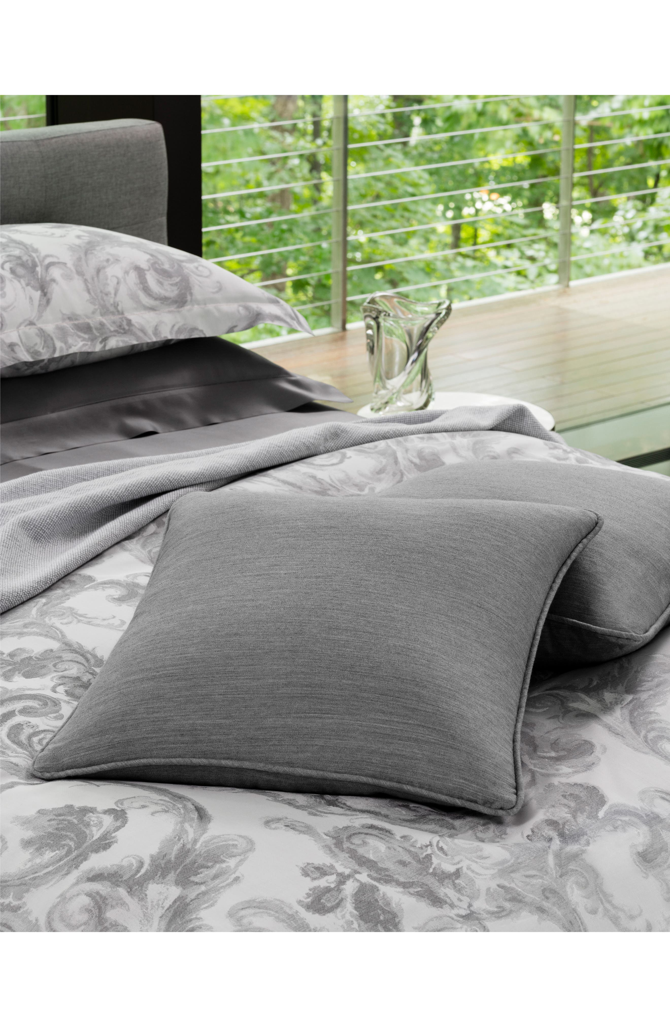 Brione Accent Pillow,                             Alternate thumbnail 4, color,                             ALUMINUM