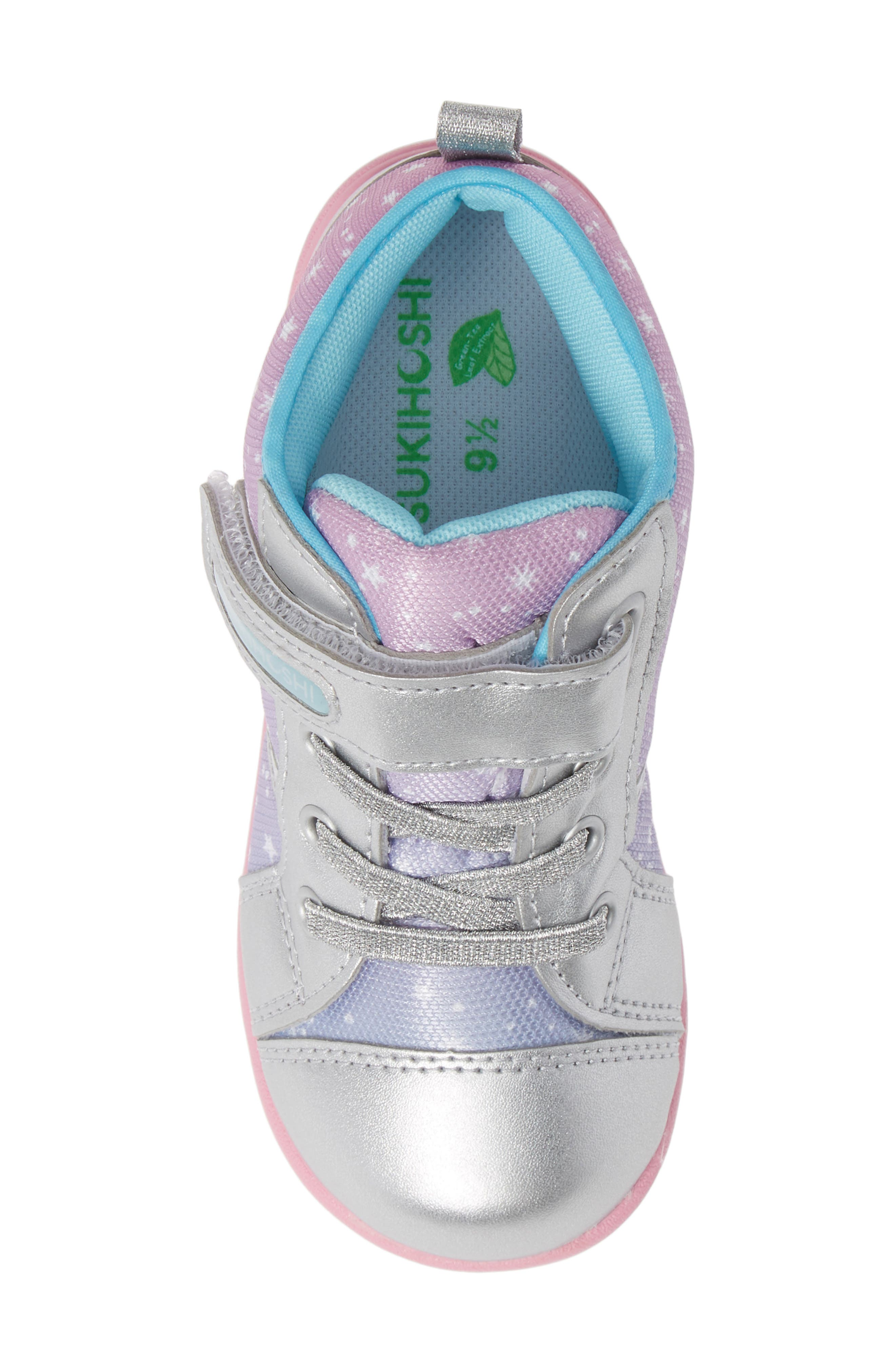 Star Washable Sneaker,                             Alternate thumbnail 5, color,                             SILVER/ PINK