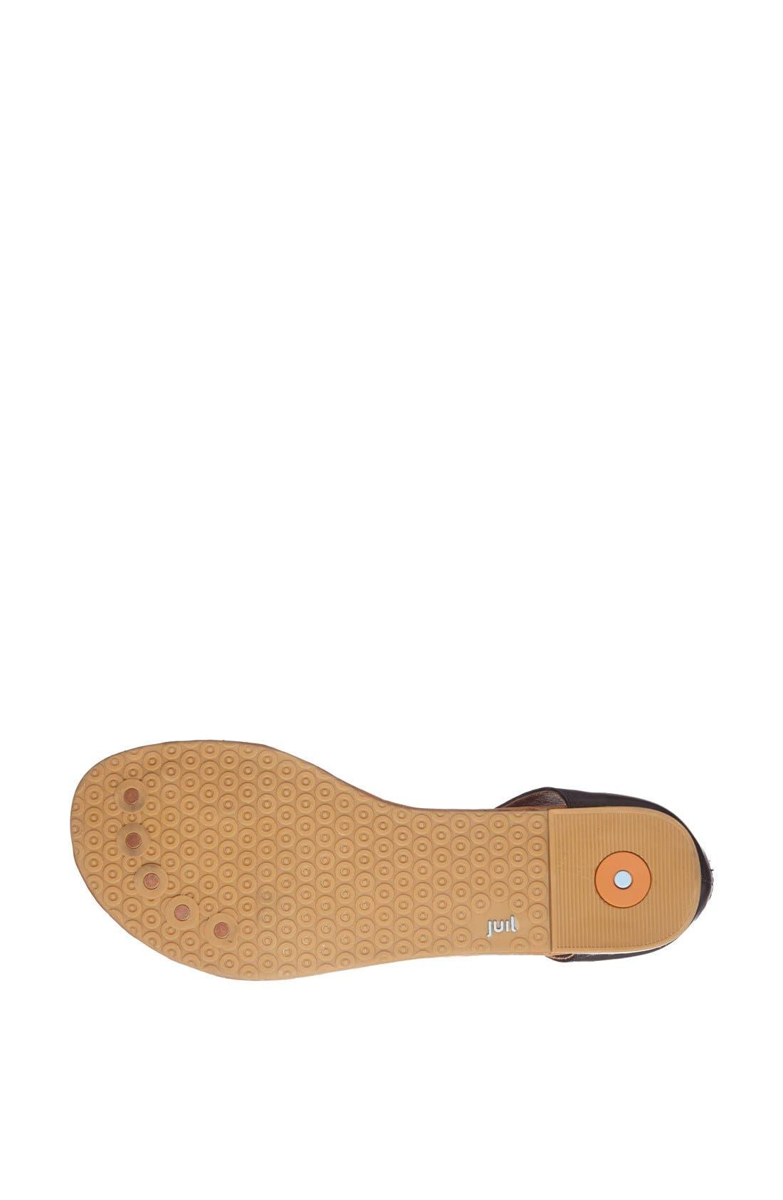 'Luna' Metallic Leather Thong Sandal,                             Alternate thumbnail 3, color,                             010