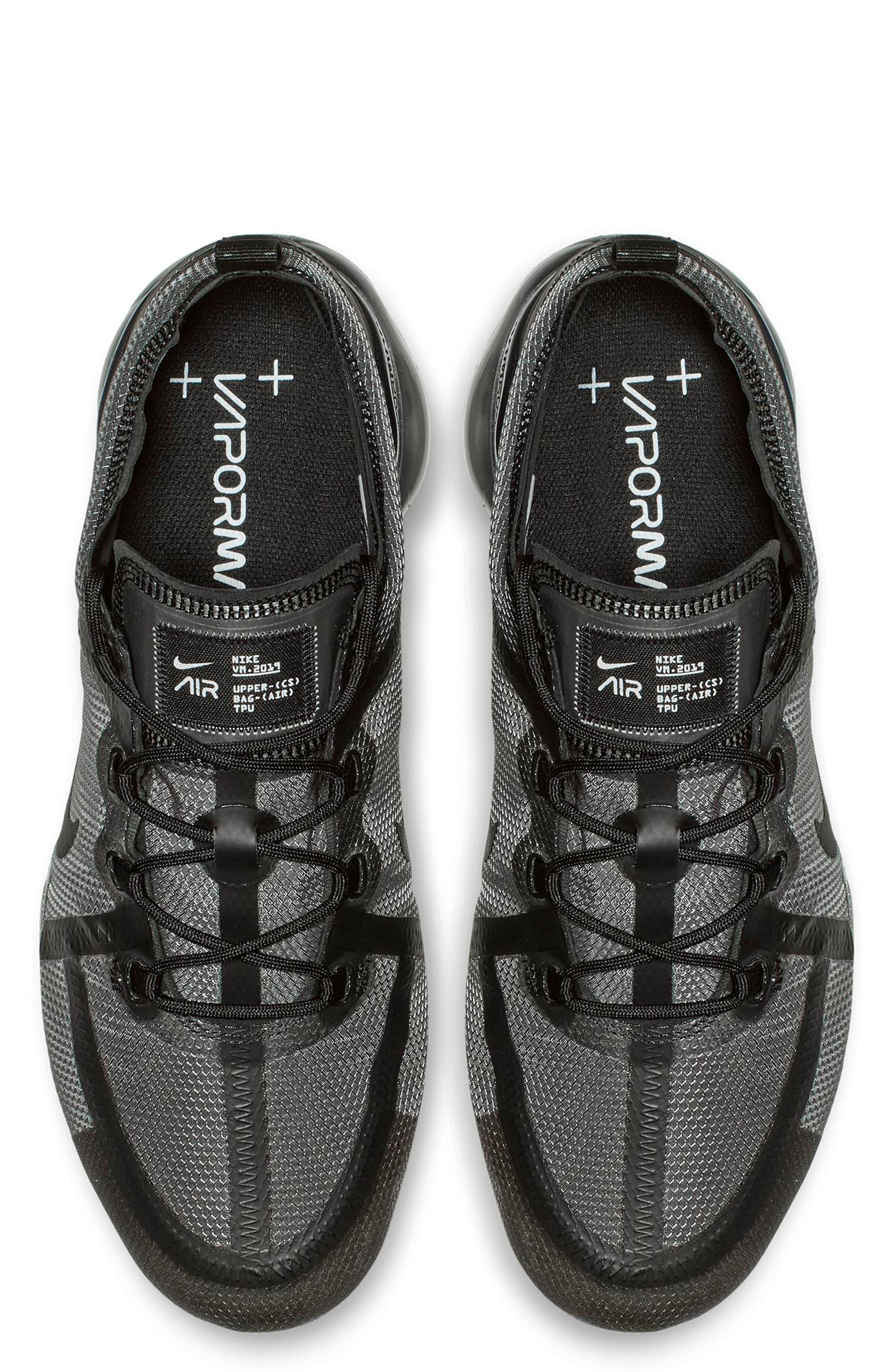 Air VaporMax 2019 Running Shoe,                             Alternate thumbnail 4, color,                             BLACK/ BLACK/ BLACK
