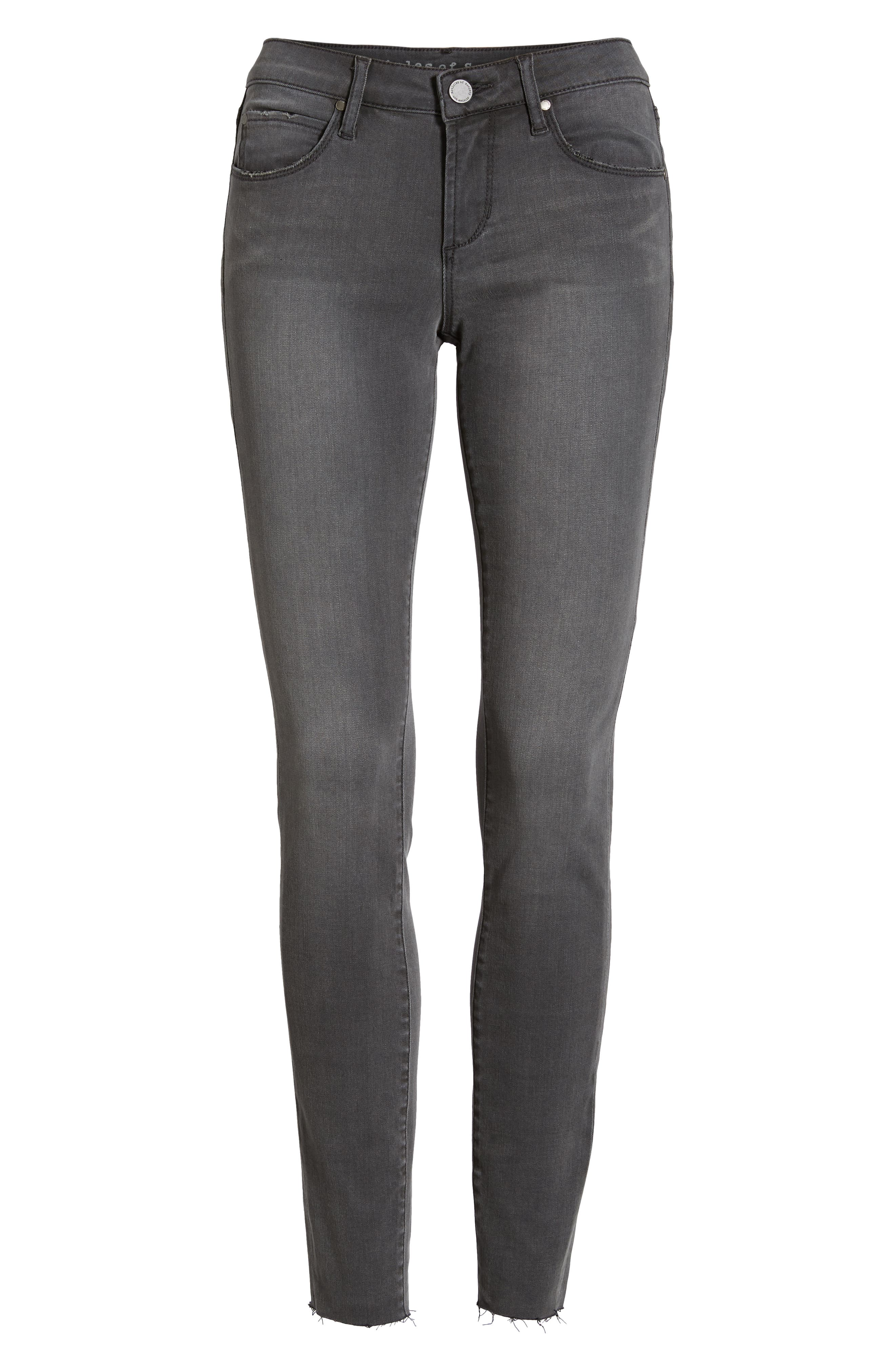 Sarah Cutoff Skinny Jeans,                             Alternate thumbnail 7, color,                             HONOLULU