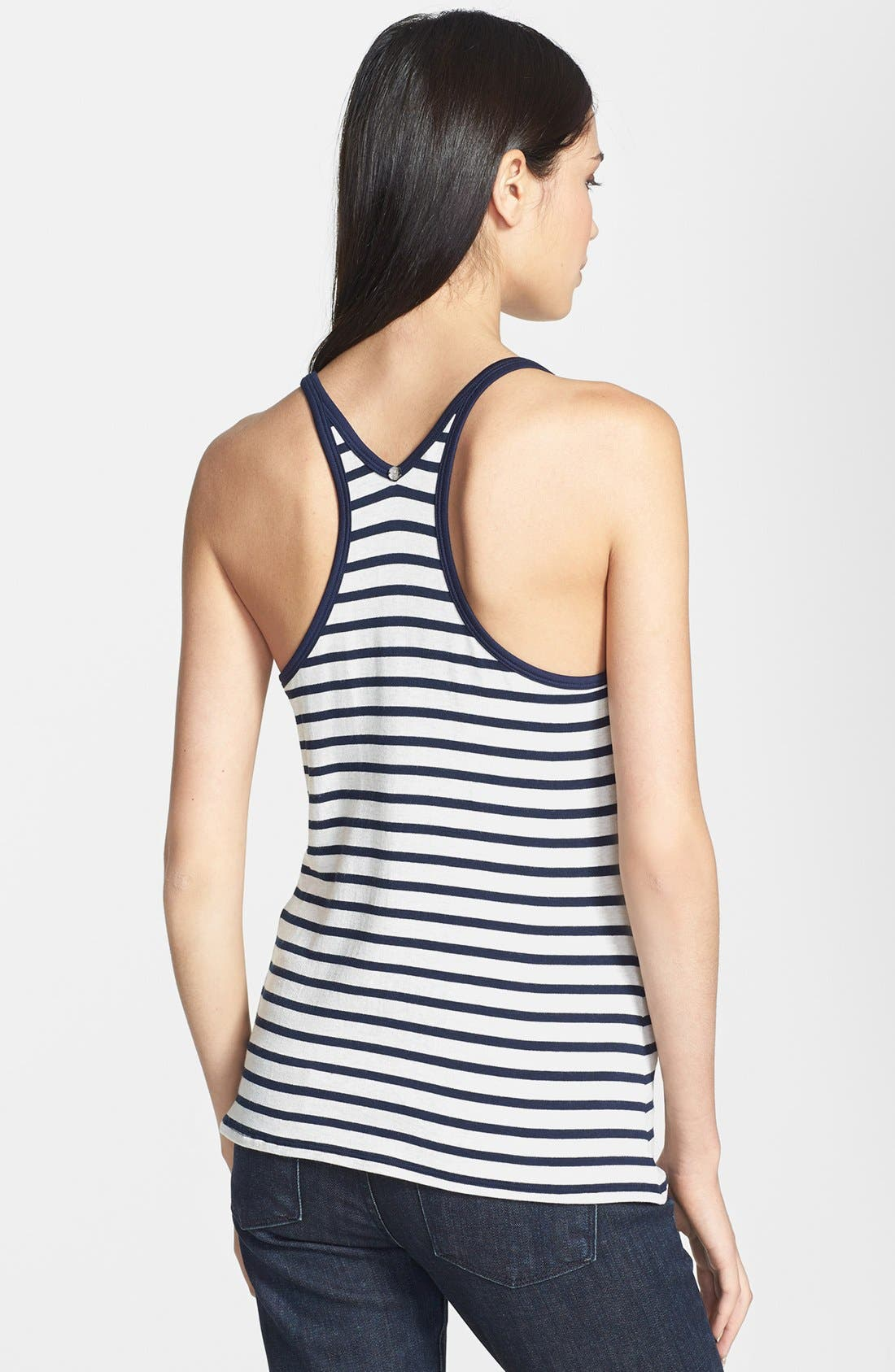 'Matey' Stripe French Terry Tank,                             Alternate thumbnail 2, color,                             411