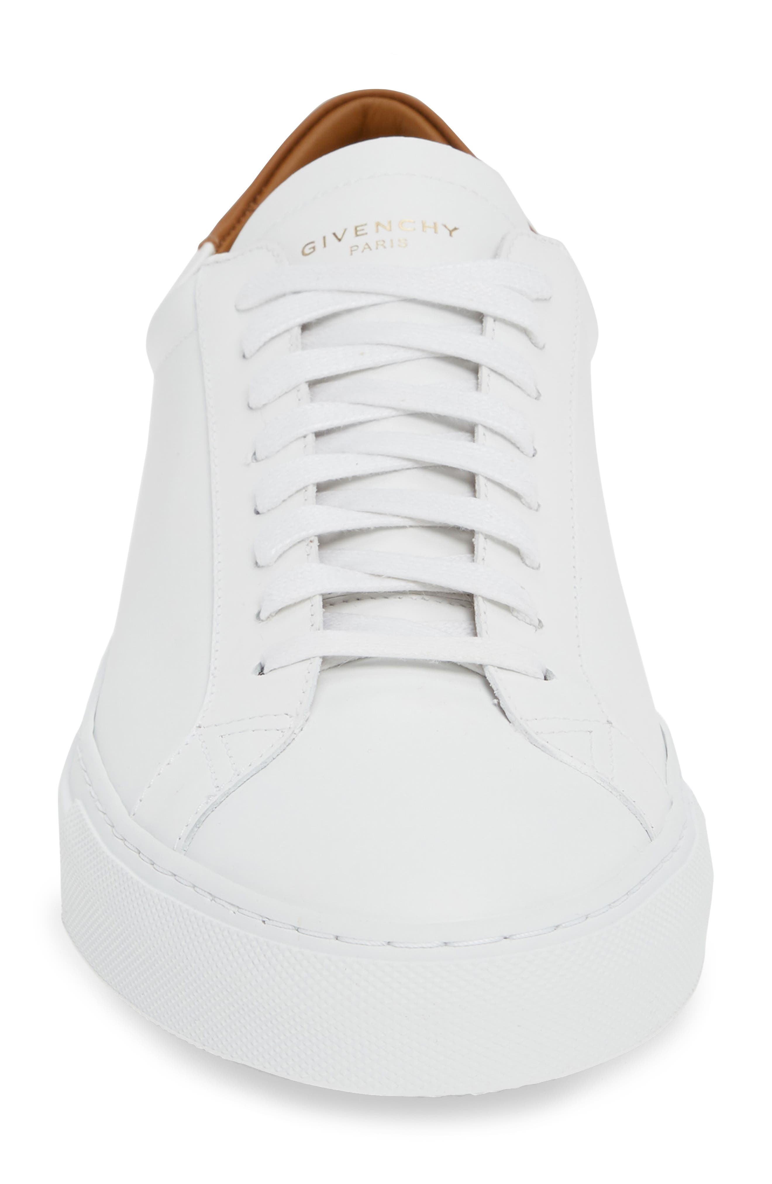 GIVENCHY,                             Urban Knots Low Sneaker,                             Alternate thumbnail 4, color,                             WHITE/ BEIGE