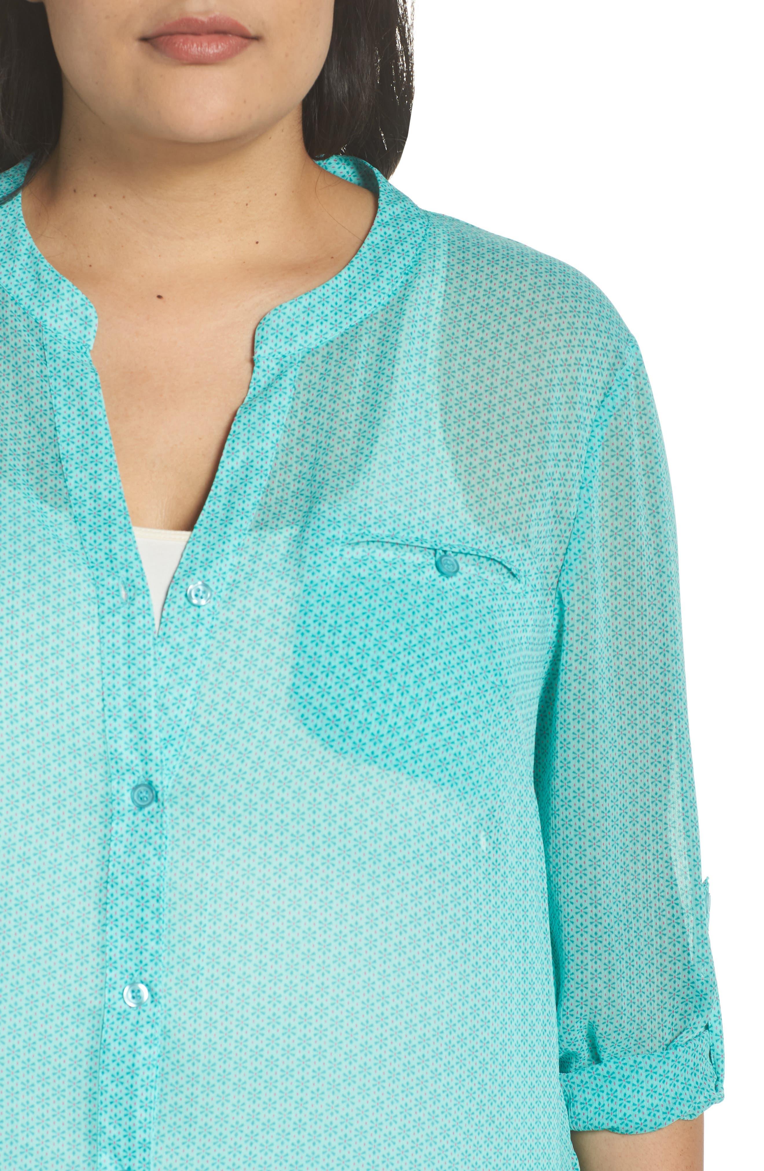 Jasmine Roll Sleeve Top,                             Alternate thumbnail 4, color,                             309