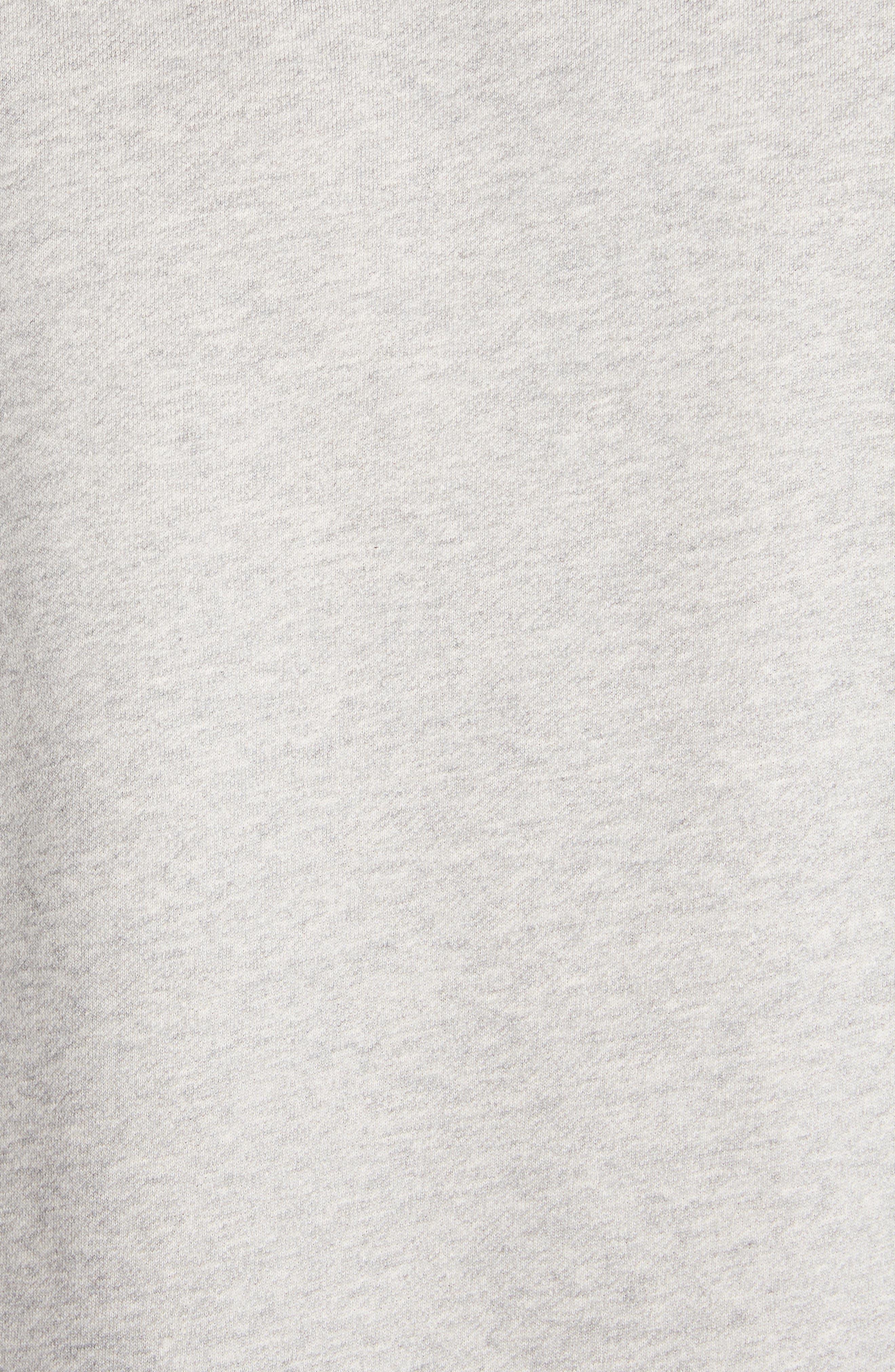 MONCLER,                             Logo Crewneck Sweatshirt,                             Alternate thumbnail 5, color,                             DARK GREY