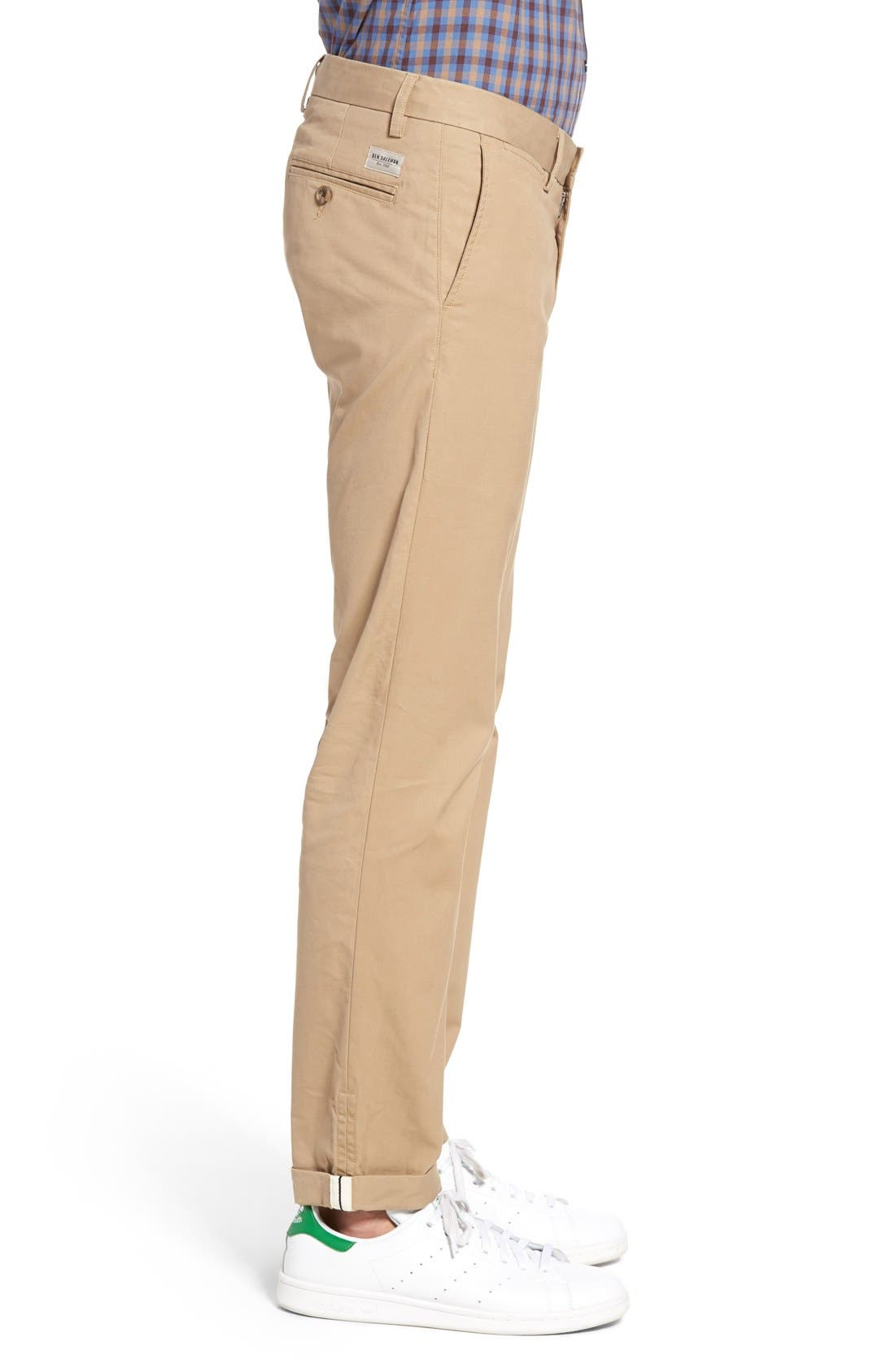 Slim Fit Stretch Chinos,                             Alternate thumbnail 19, color,