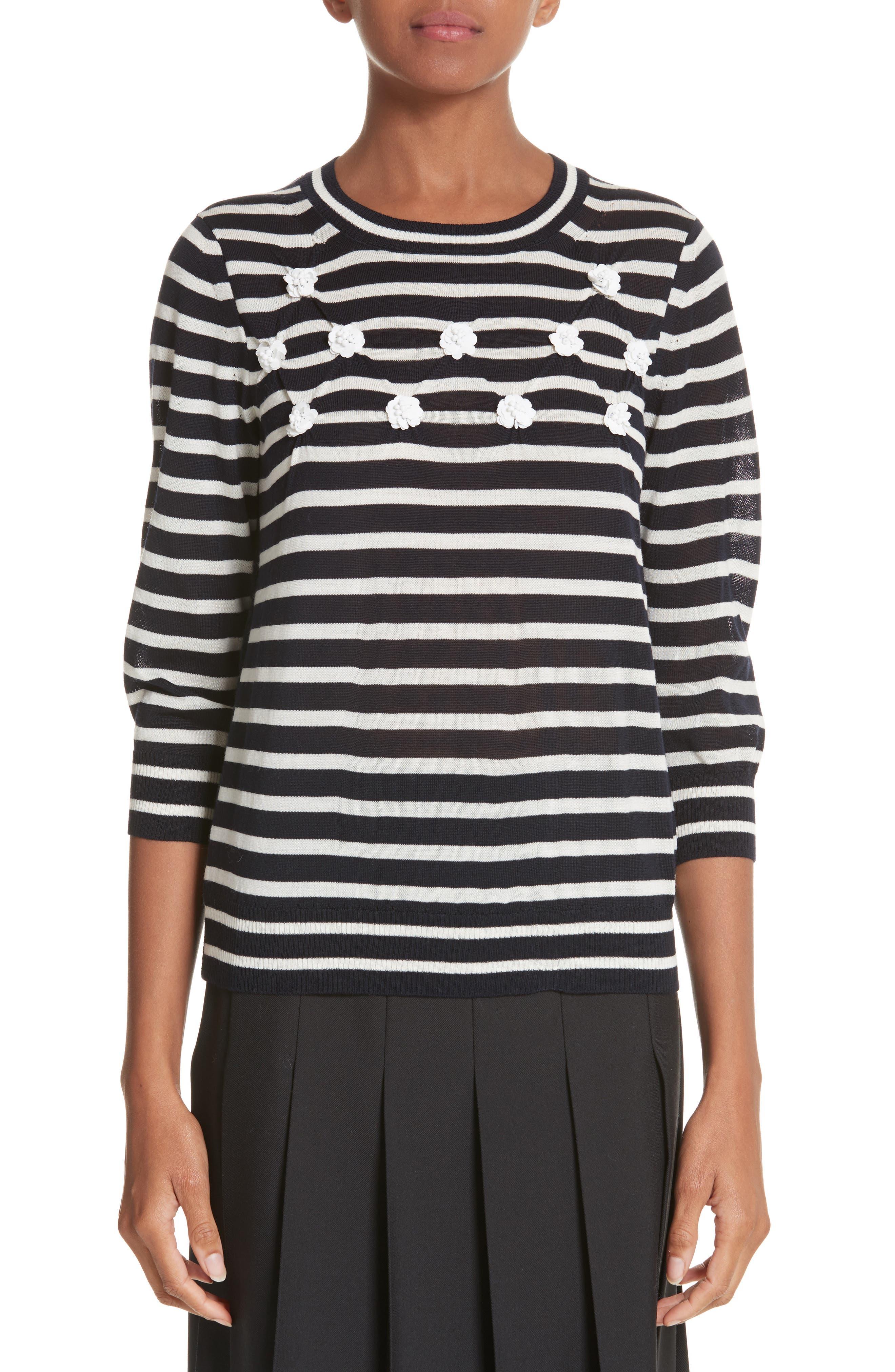 Button Back Stripe Sweater,                             Main thumbnail 1, color,                             410