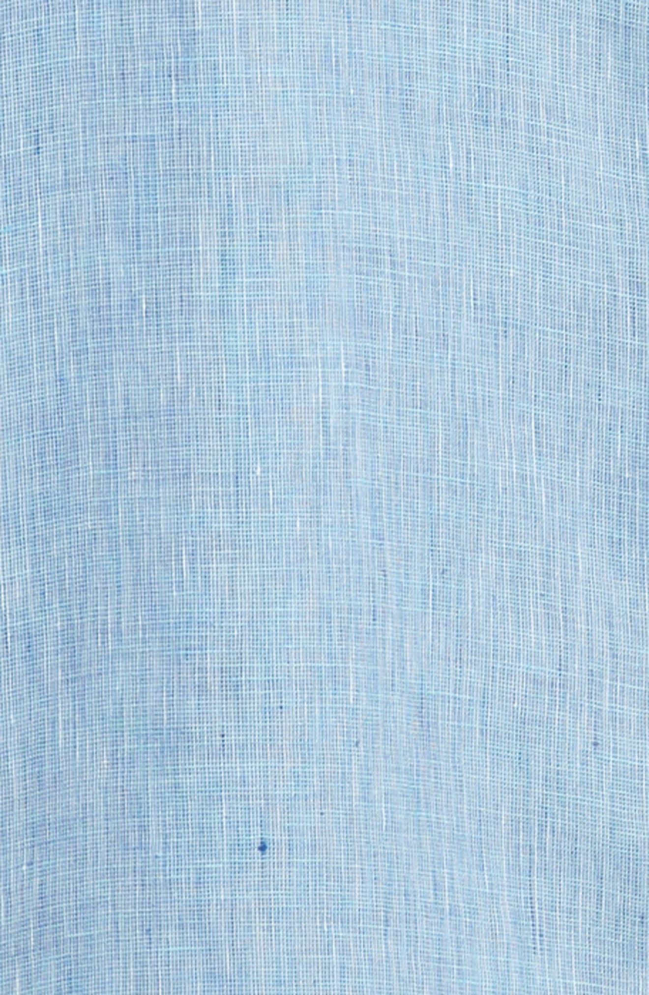 Gills Classic Fit Linen Sport Shirt,                             Alternate thumbnail 6, color,                             LIGHT BLUE