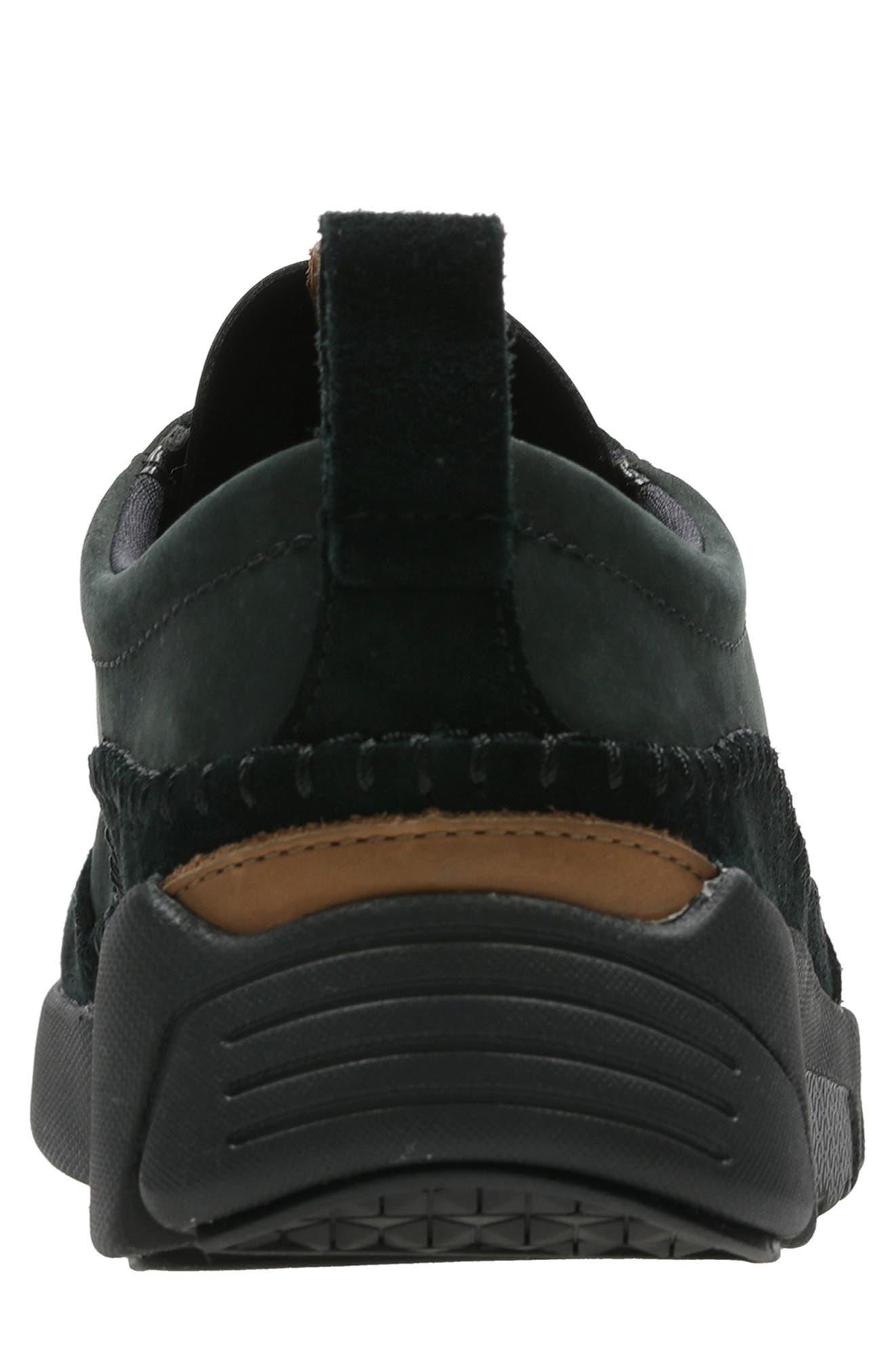 Tri-Active Run Sneaker,                             Alternate thumbnail 4, color,                             BLACK LEATHER