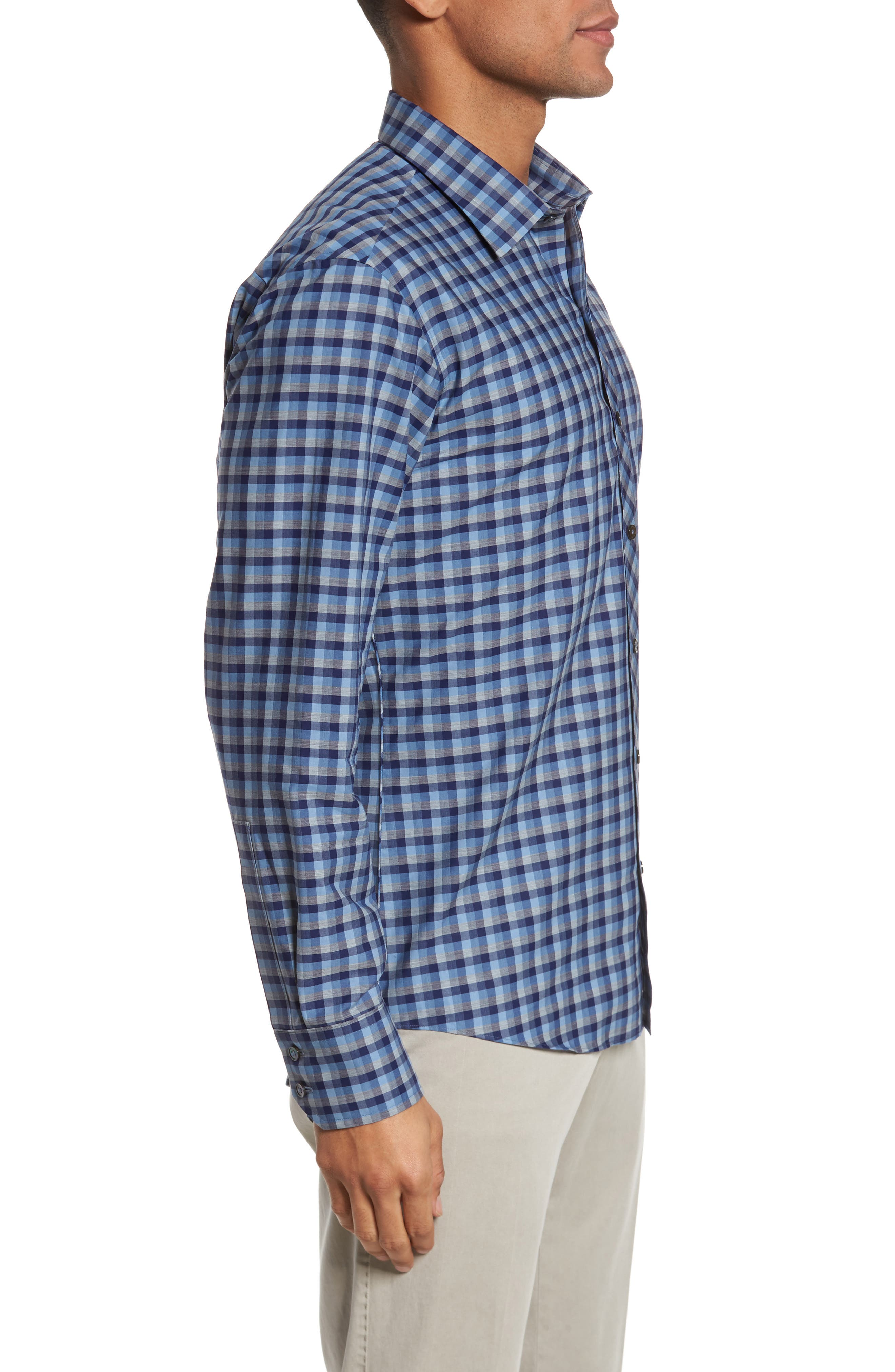 Dane Check Sport Shirt,                             Alternate thumbnail 3, color,                             450