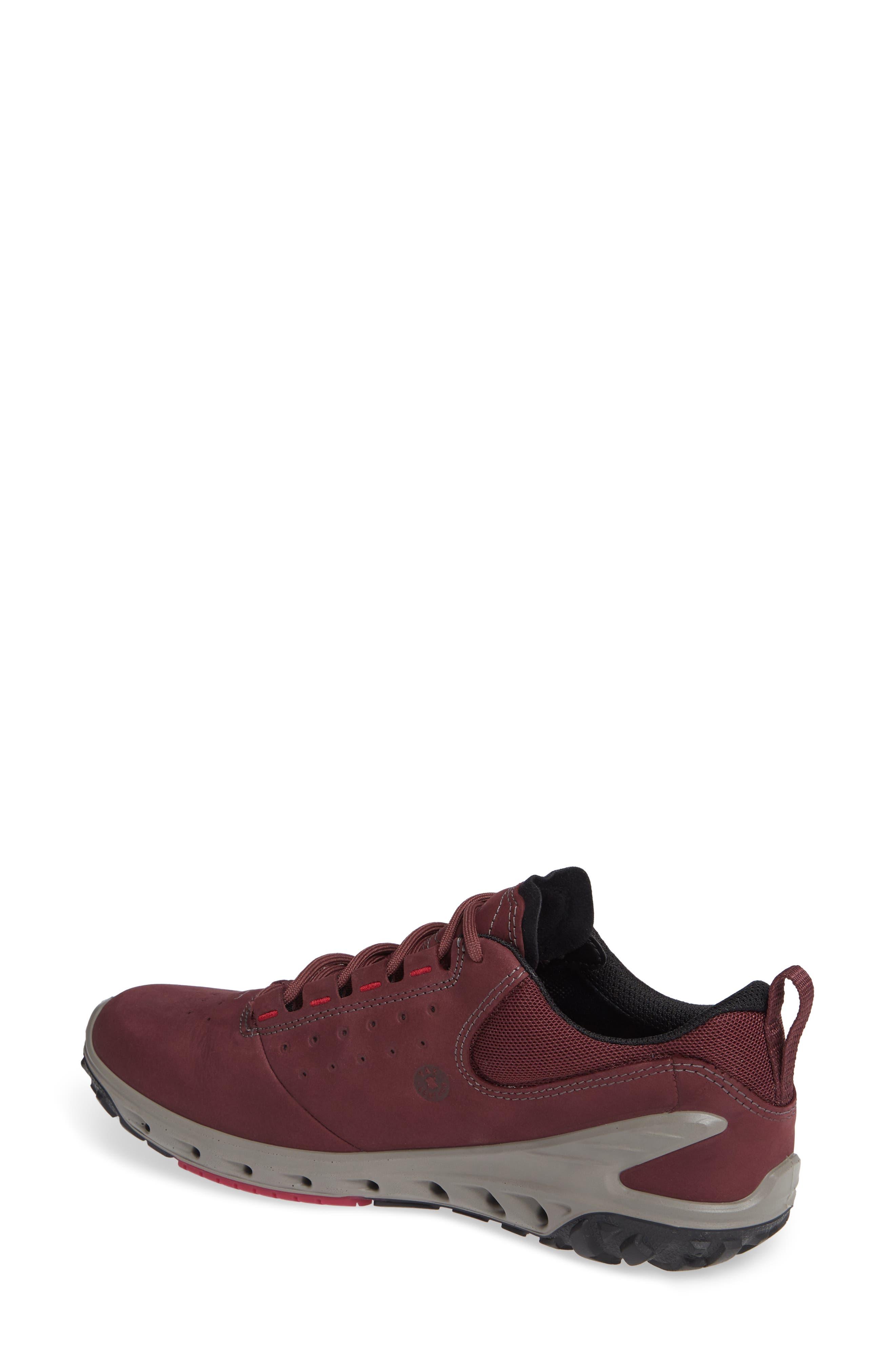 BIOM Venture GTX Sneaker,                             Alternate thumbnail 2, color,                             WINE NUBUCK LEATHER
