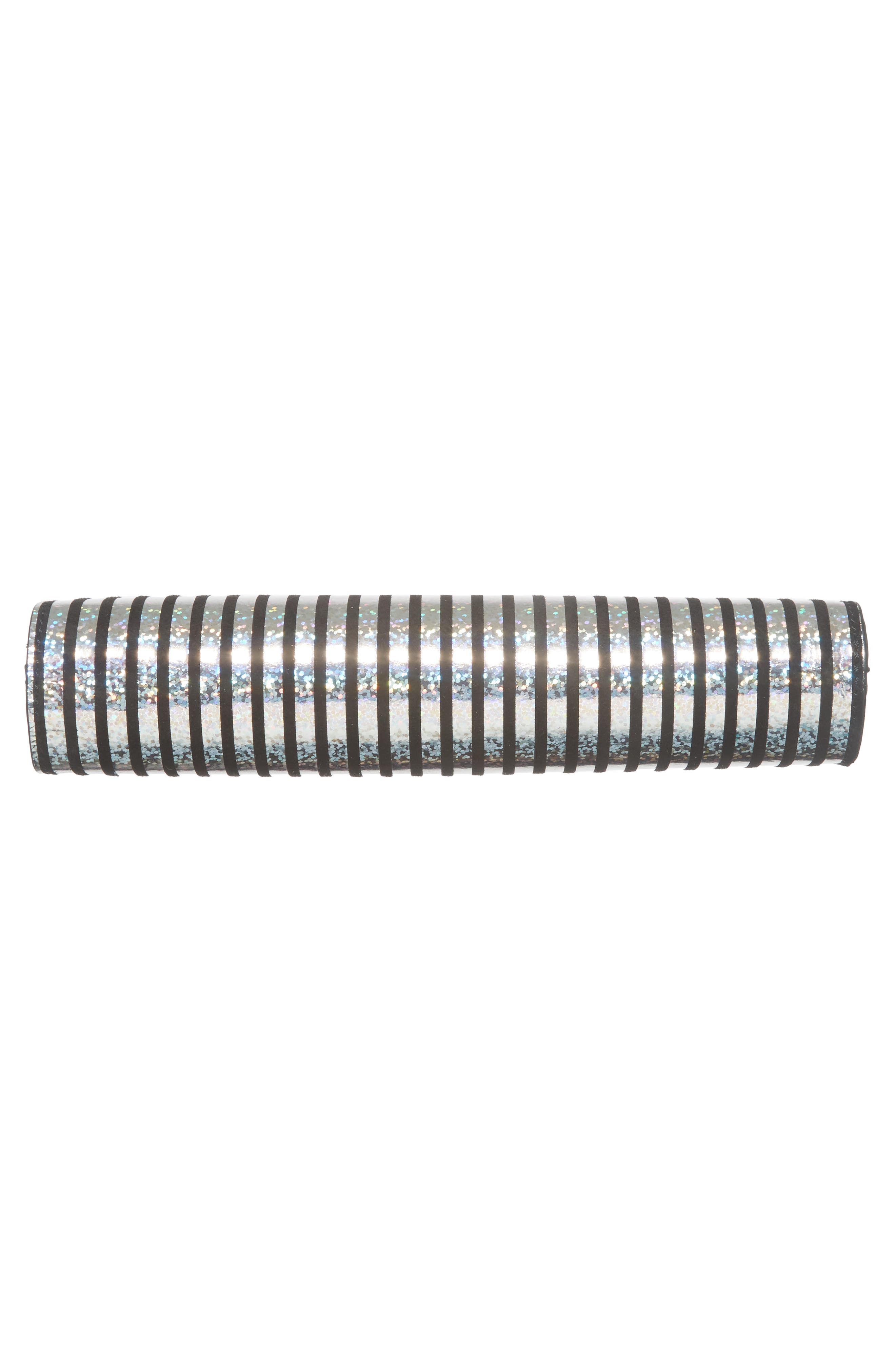 Small Metallic Stripe Frame Clutch,                             Alternate thumbnail 6, color,                             041