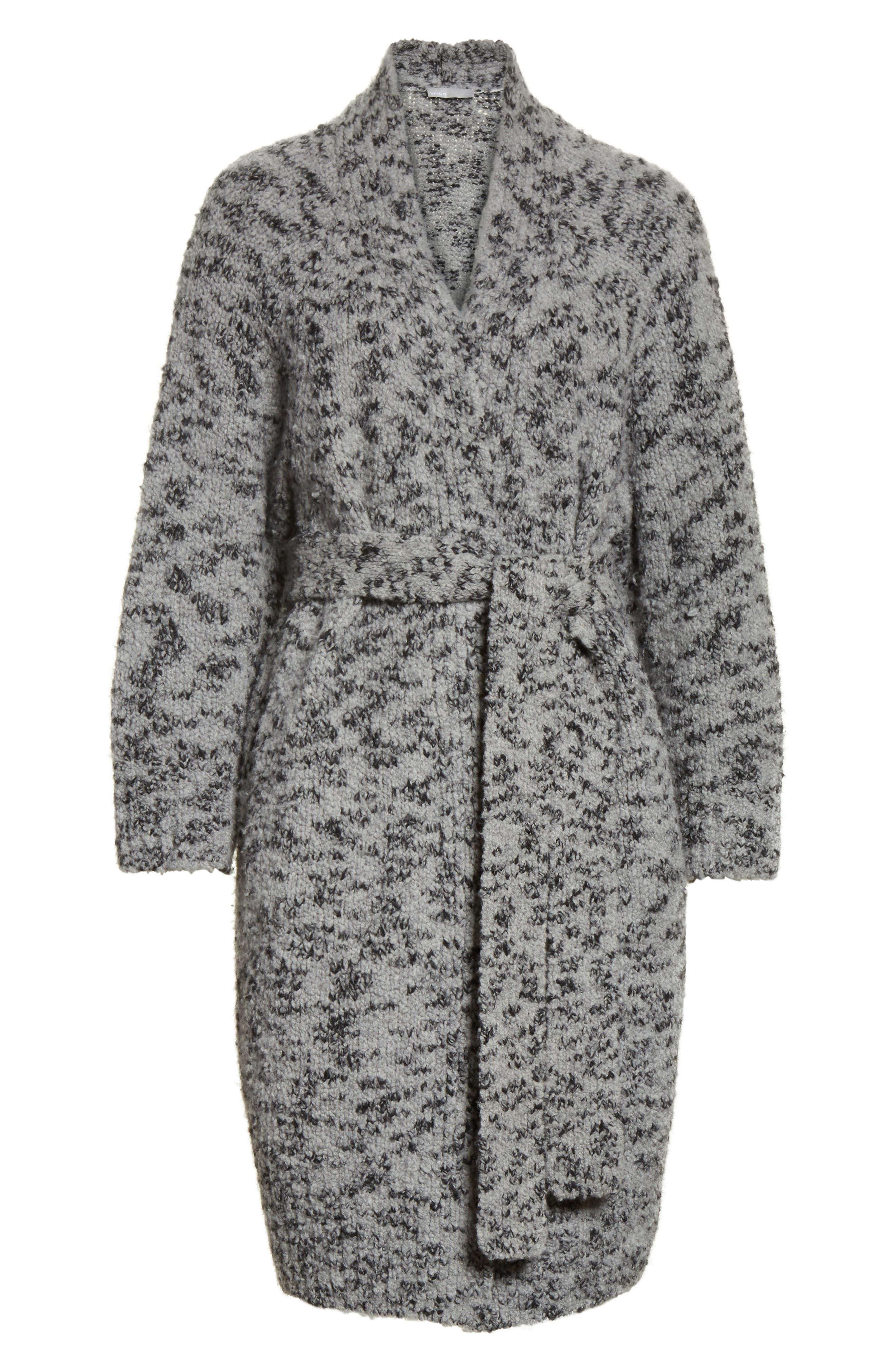 Textured Wool Blend Cardigan,                             Alternate thumbnail 6, color,                             064