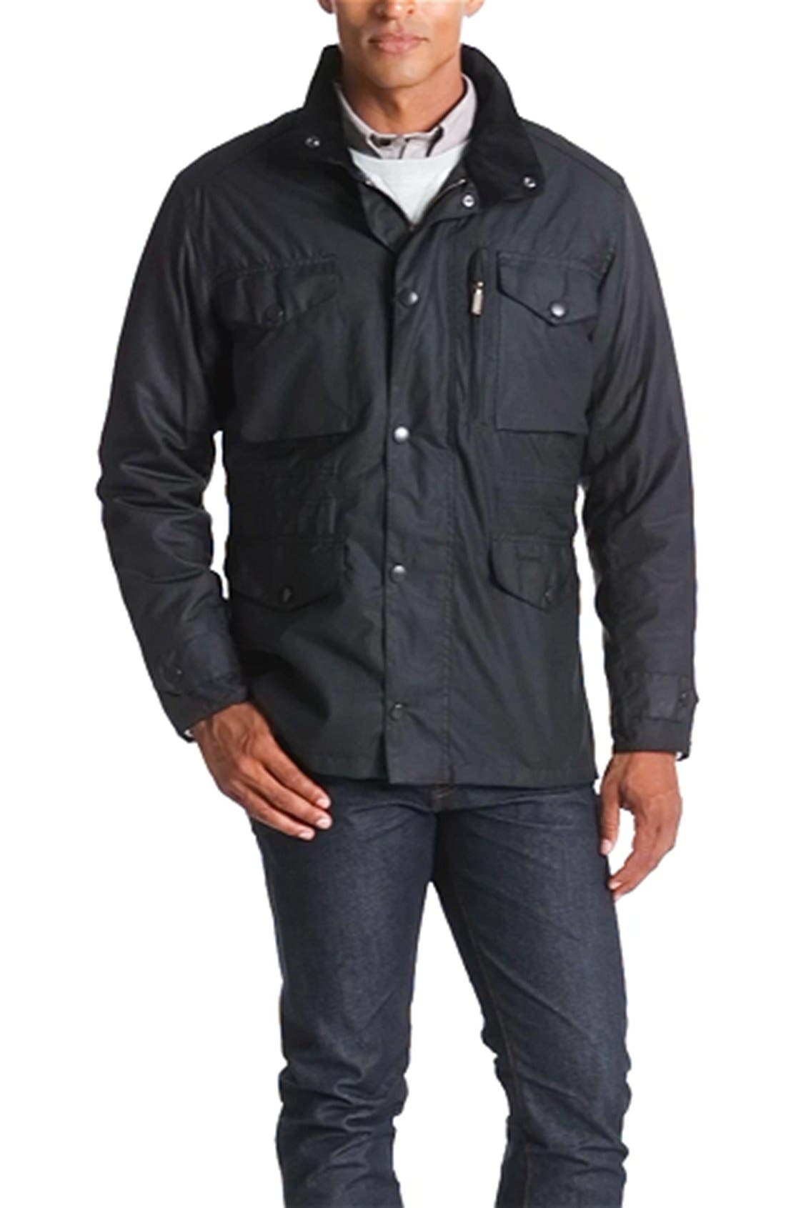 'Sapper' Weatherproof Waxed Relaxed Fit Jacket,                             Alternate thumbnail 6, color,                             001