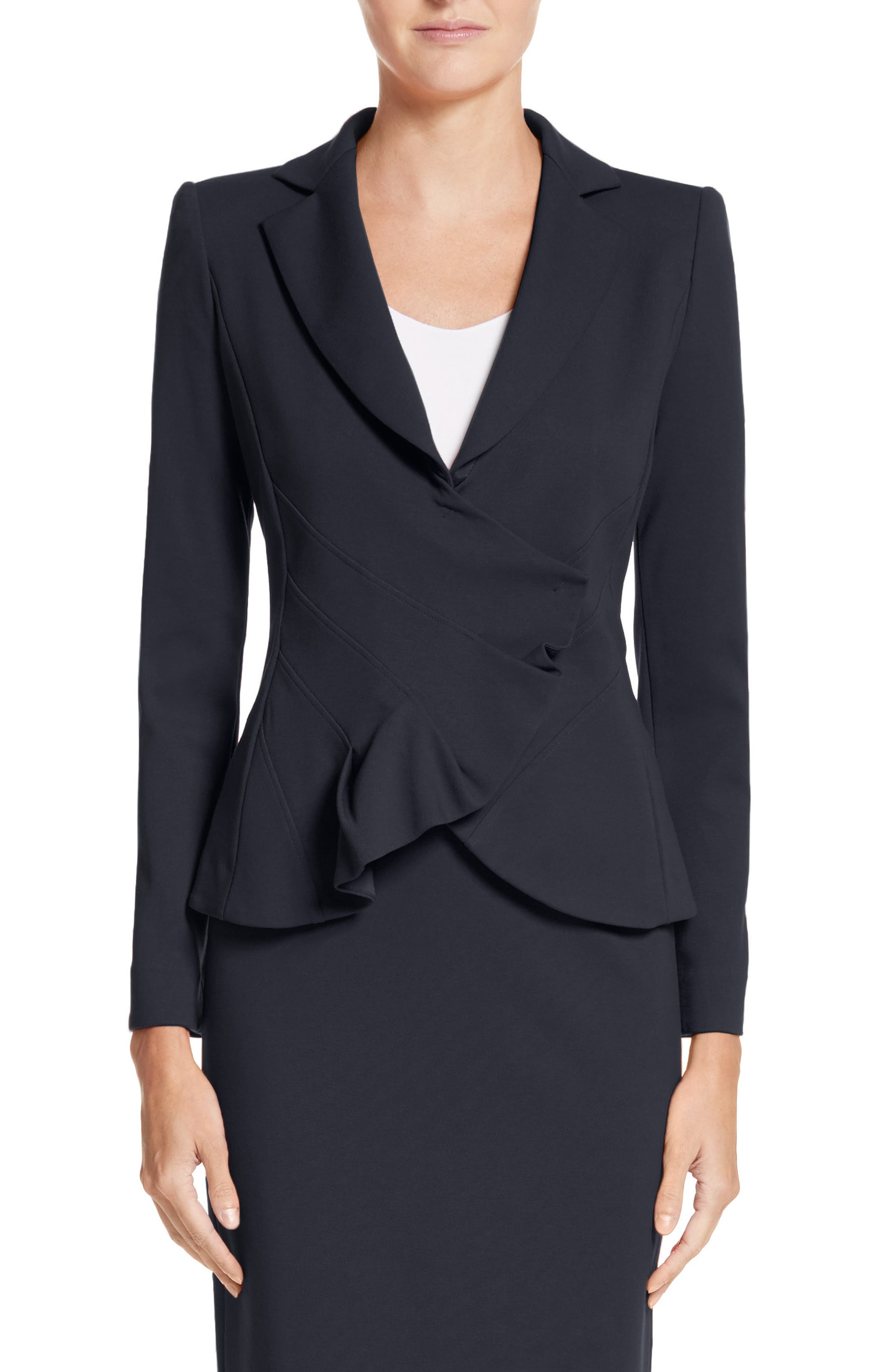 Asymmetrical Pleated Front Jacket,                         Main,                         color,