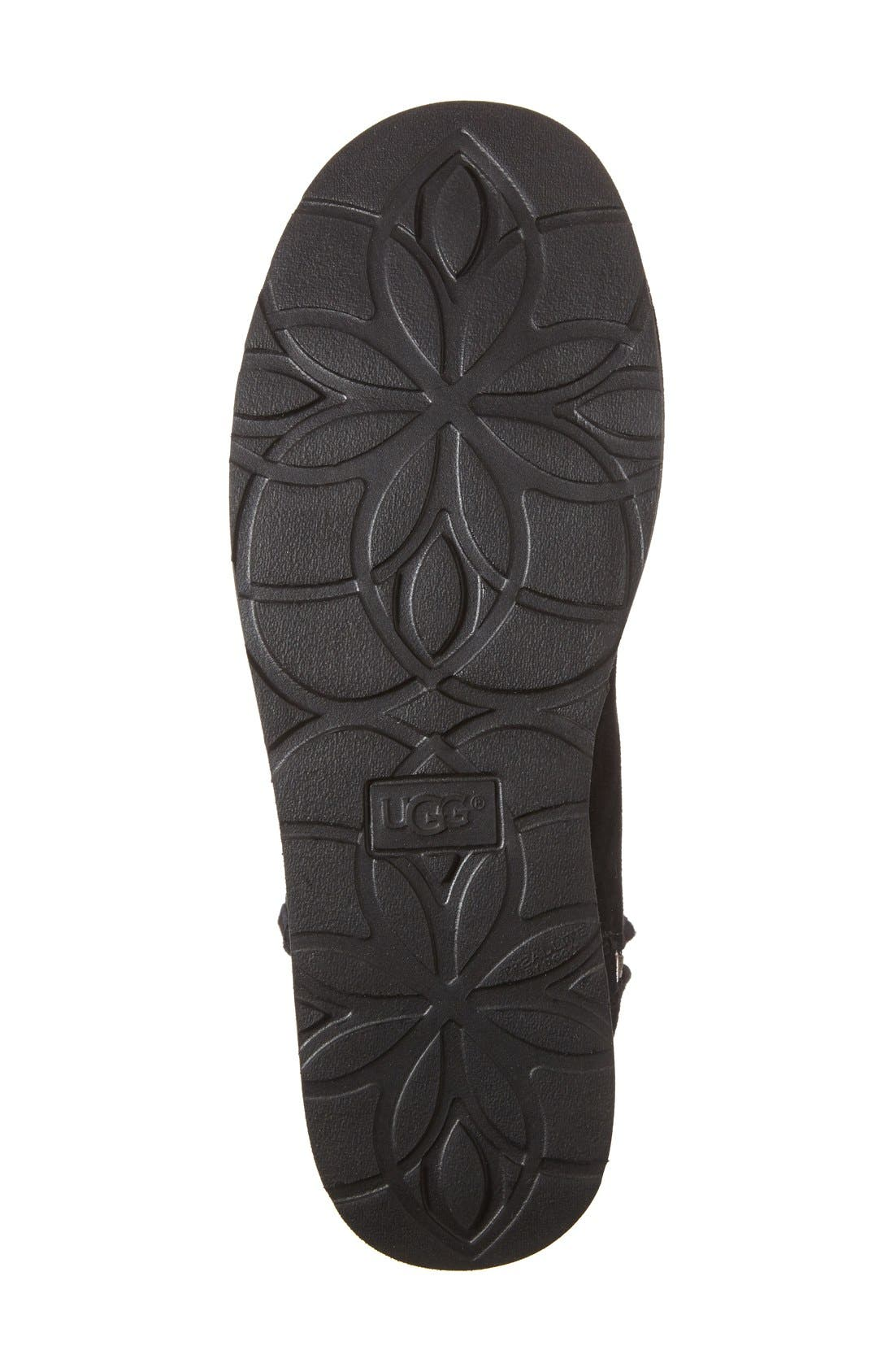 Abree II Short Boot,                             Alternate thumbnail 4, color,                             NERO SUEDE